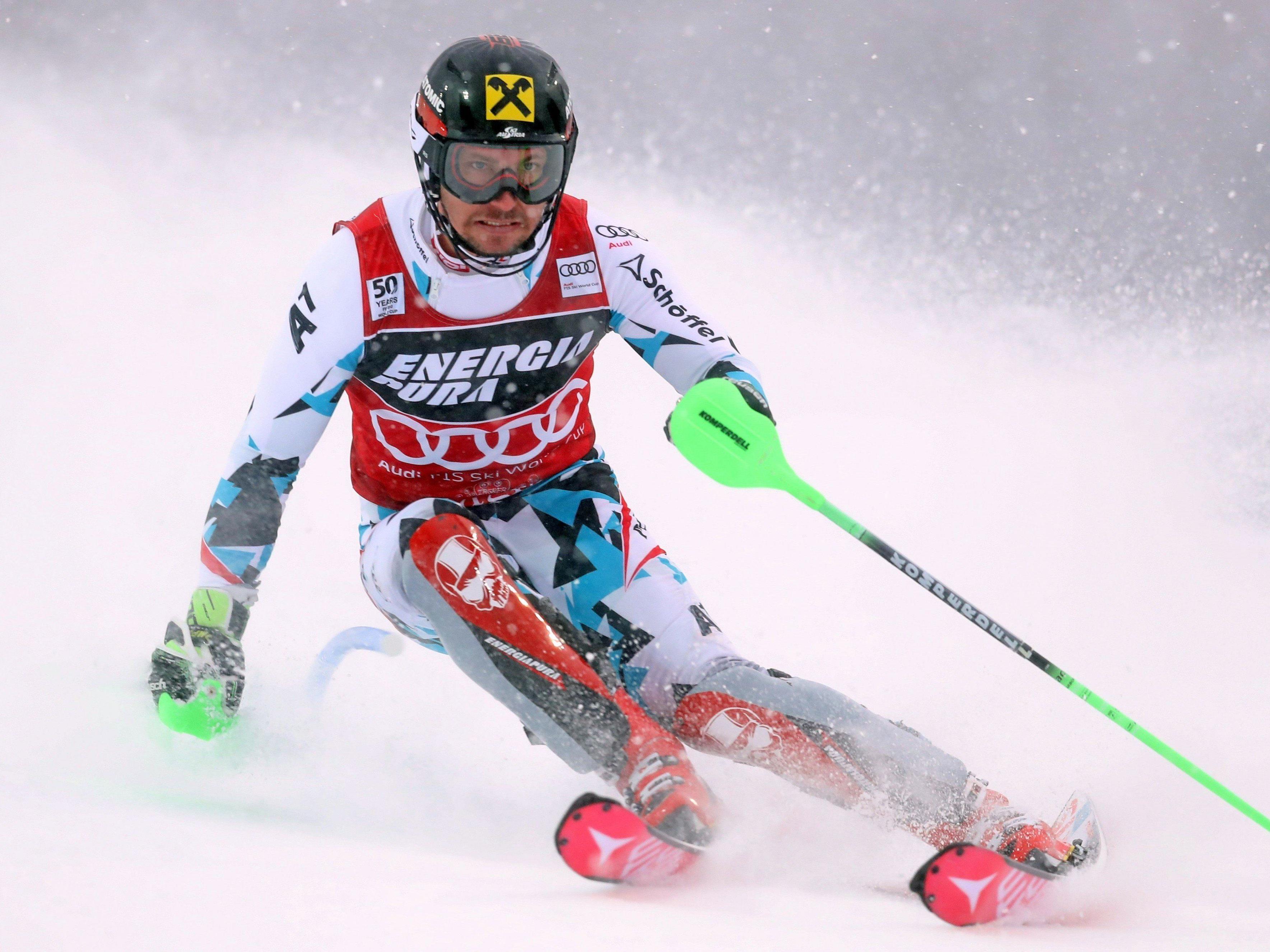 Marcel Hirscher wurde in Adelboden zweiter.