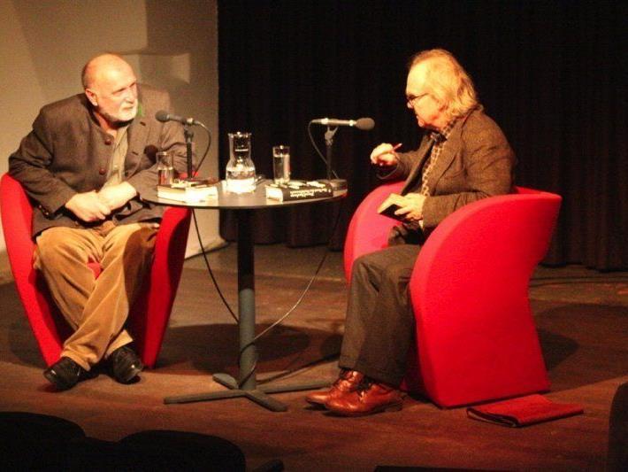 Dzevad Karahasan begab sich im Saumarkt in ein philosophisches Gespräch mit Michael Köhlmeier.