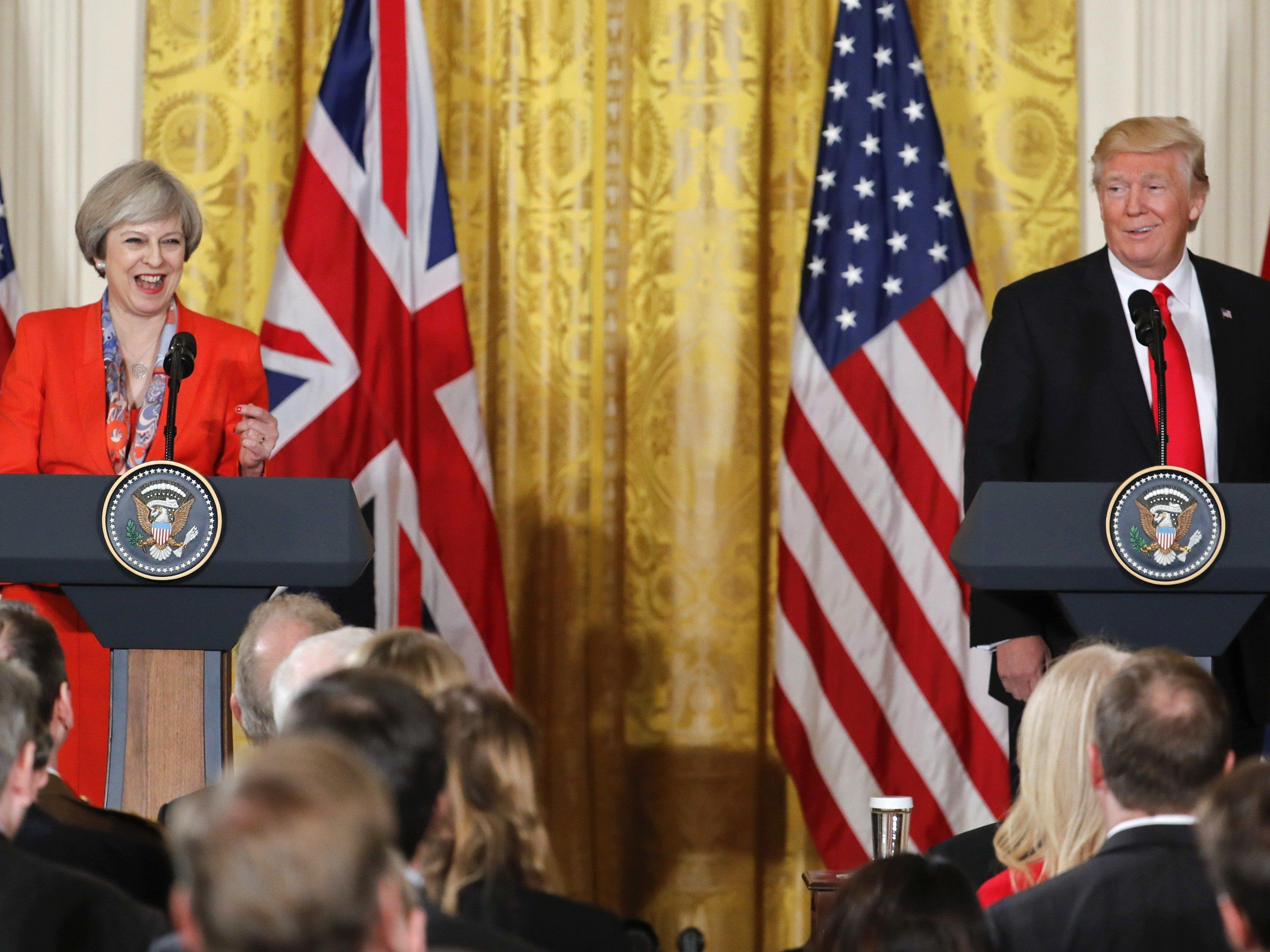US-Präsident Donald Trump empfieng die britische Premierministerin Theresa May.