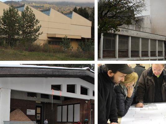 Die Asylquartiere in Thüringen (links oben), Sonntag (links unten), Nofels (rechts oben) und Frastanz (rechts unten) werden geschlossen.