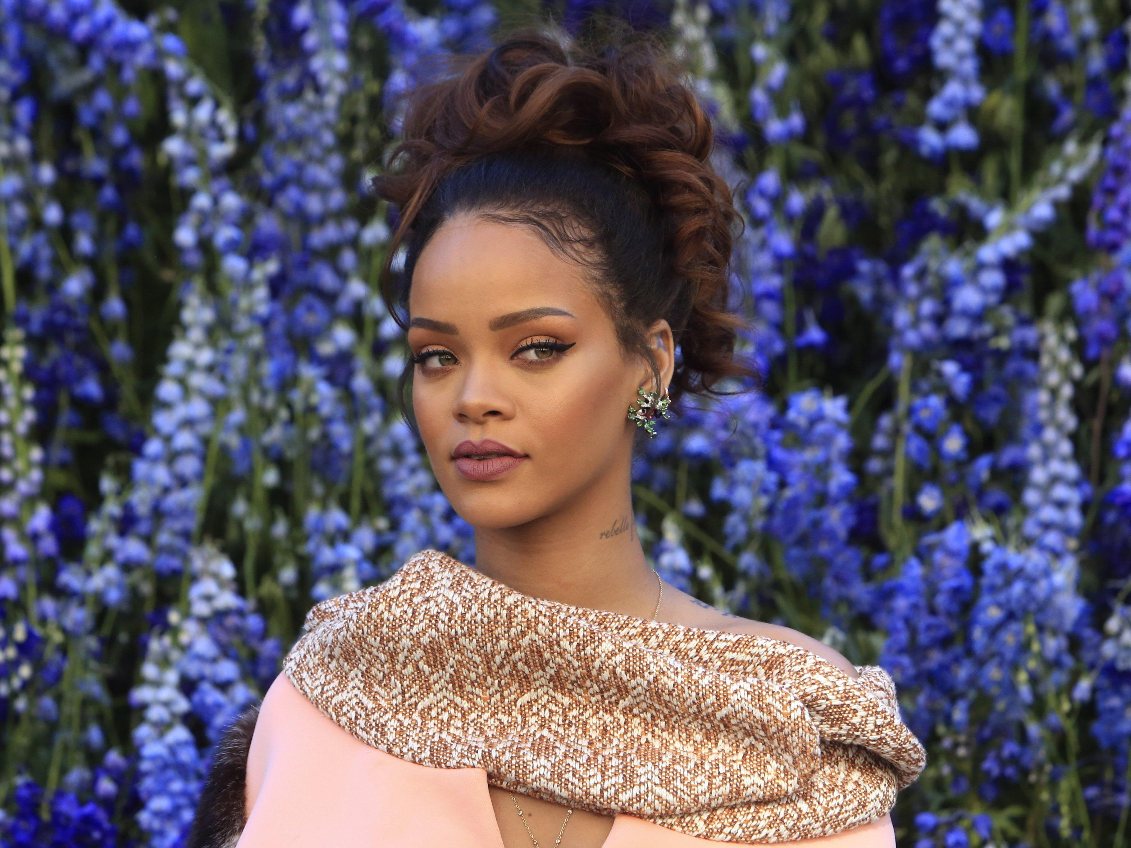 Was hat Rihanna denn so erschreckt?