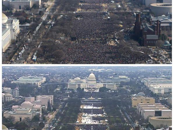 Oben: 2009, unten: 2017
