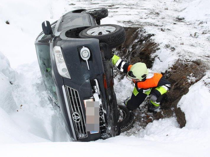 Kurioser Unfall in Feldkirch