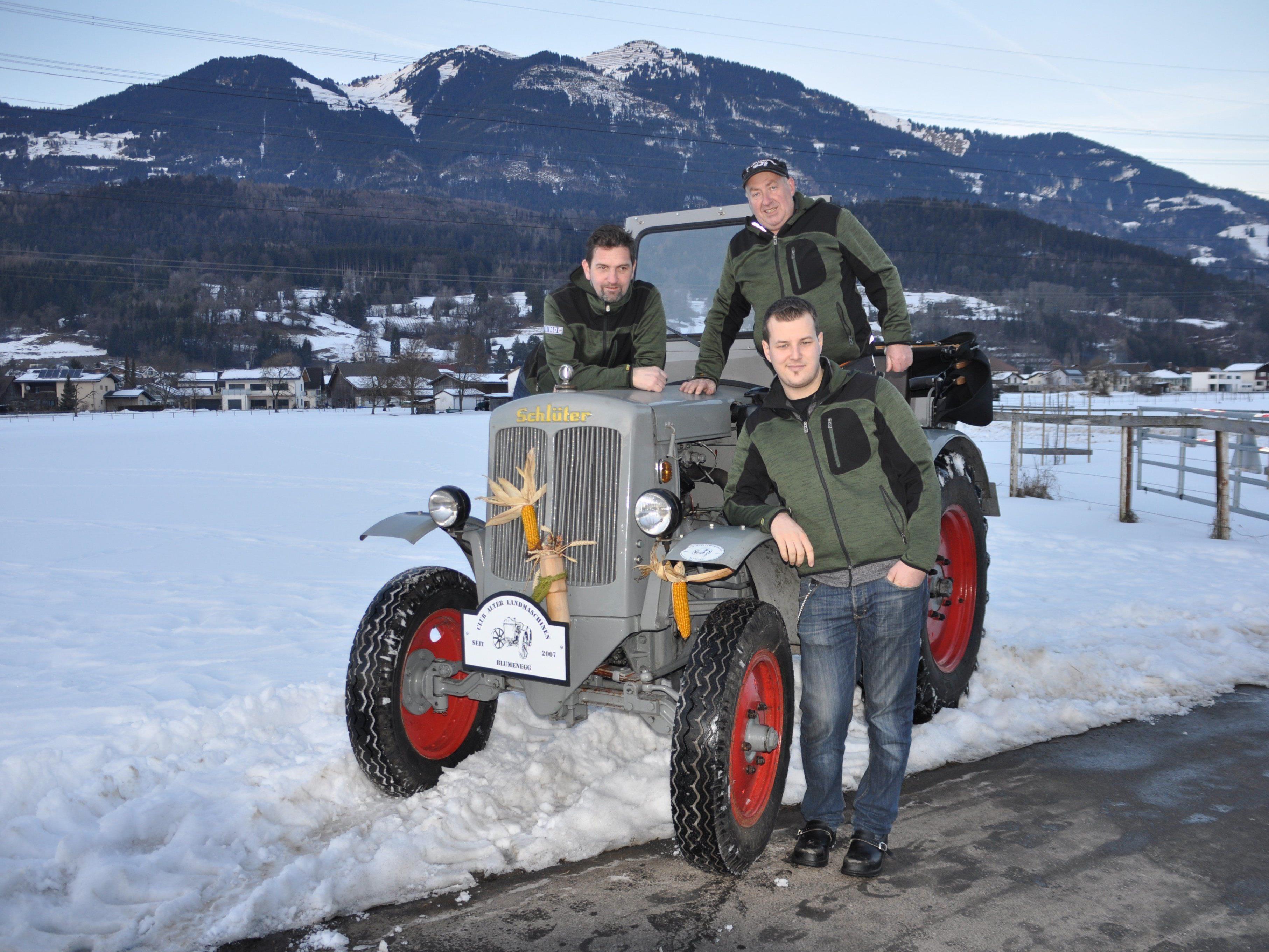 v.l.Stefan Tschann, Obmann Heinrich Schnetzer und Philipp Hammerer