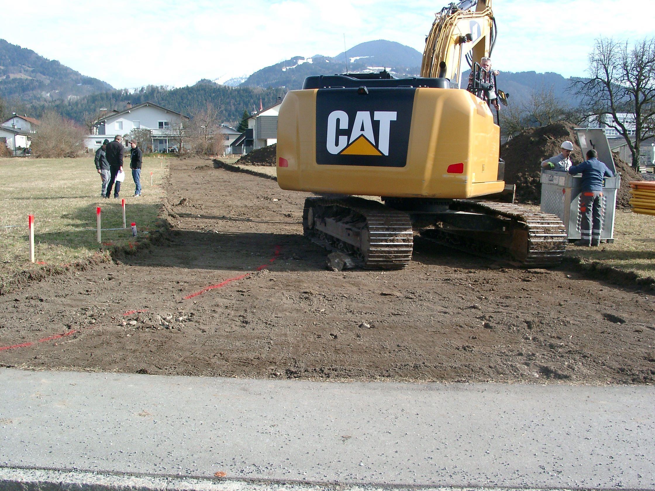 Aufgrund vom Bau neuer Häuser wird der Frankenweg erschlossen