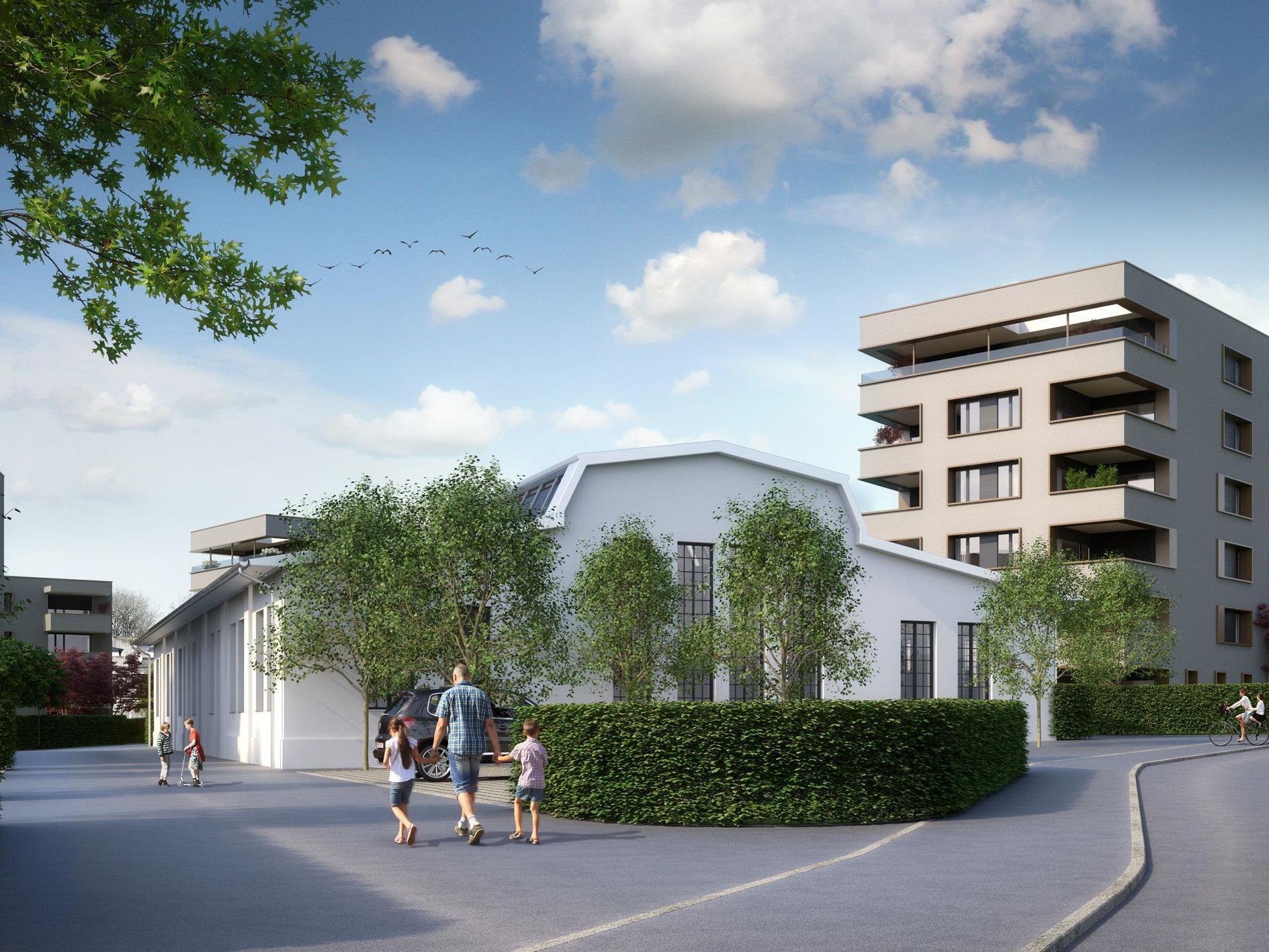 Auf 13.000 Qudratmetern entstehen in Lochau 140 Wohn- und Gewerbeeinheiten.