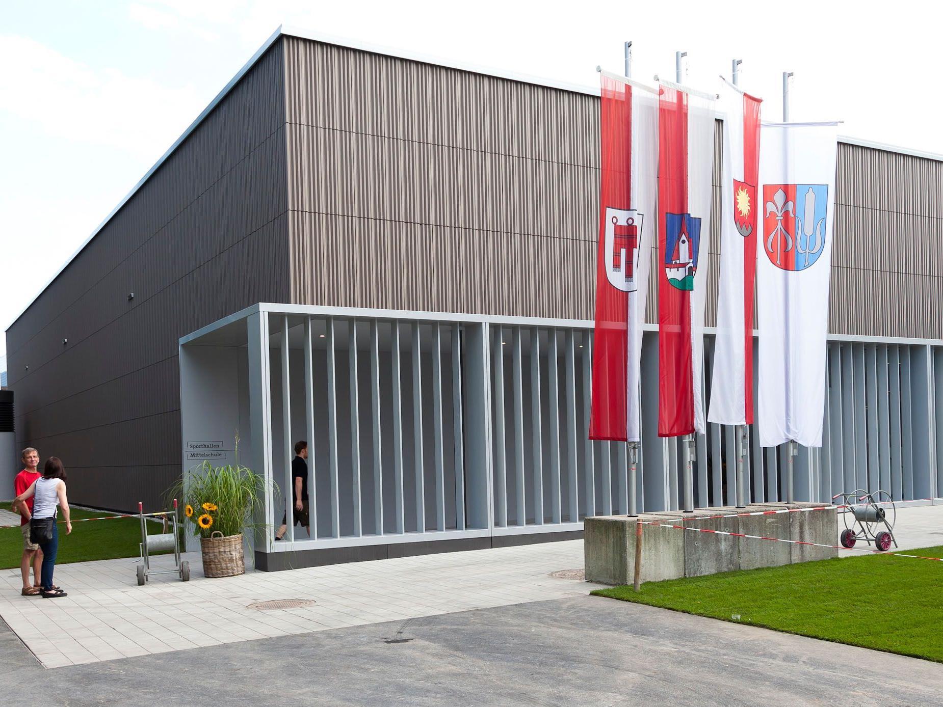 Die Sporthallen der Mittelschule wurden energieeffizient gebaut.