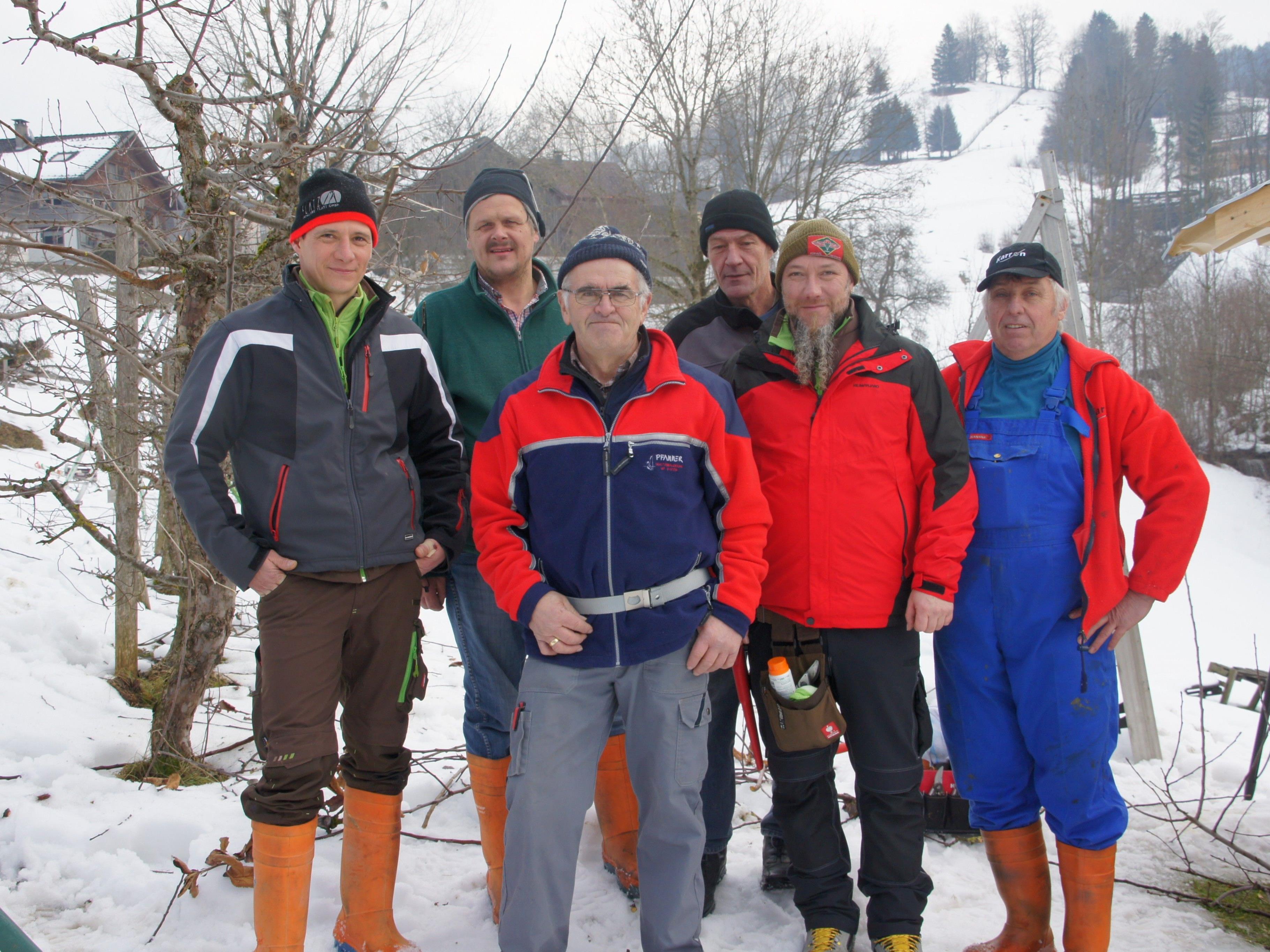Kursleiter-Team des Baumschnittseminars Bregenzerwald
