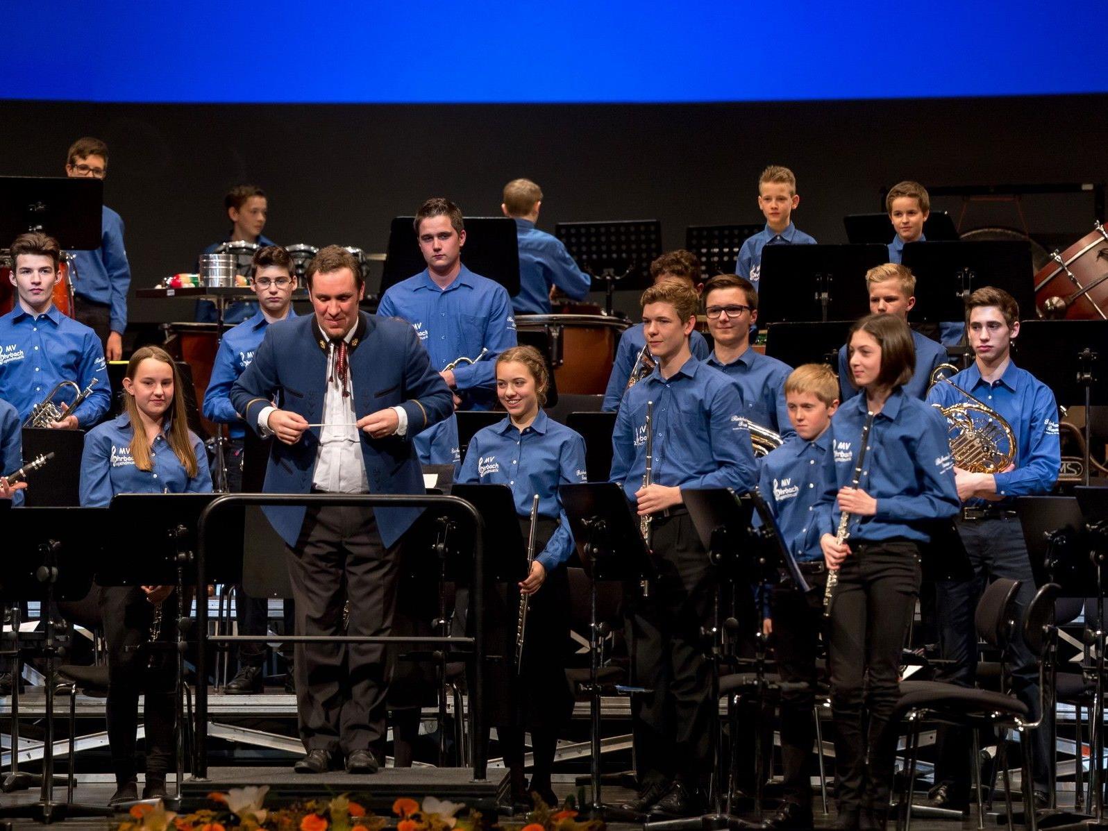 Die engagierte Jugendmusik des Musikvereins Dornbirn-Rohrbach beim jüngsten Auftritt. (Foto: Verein)