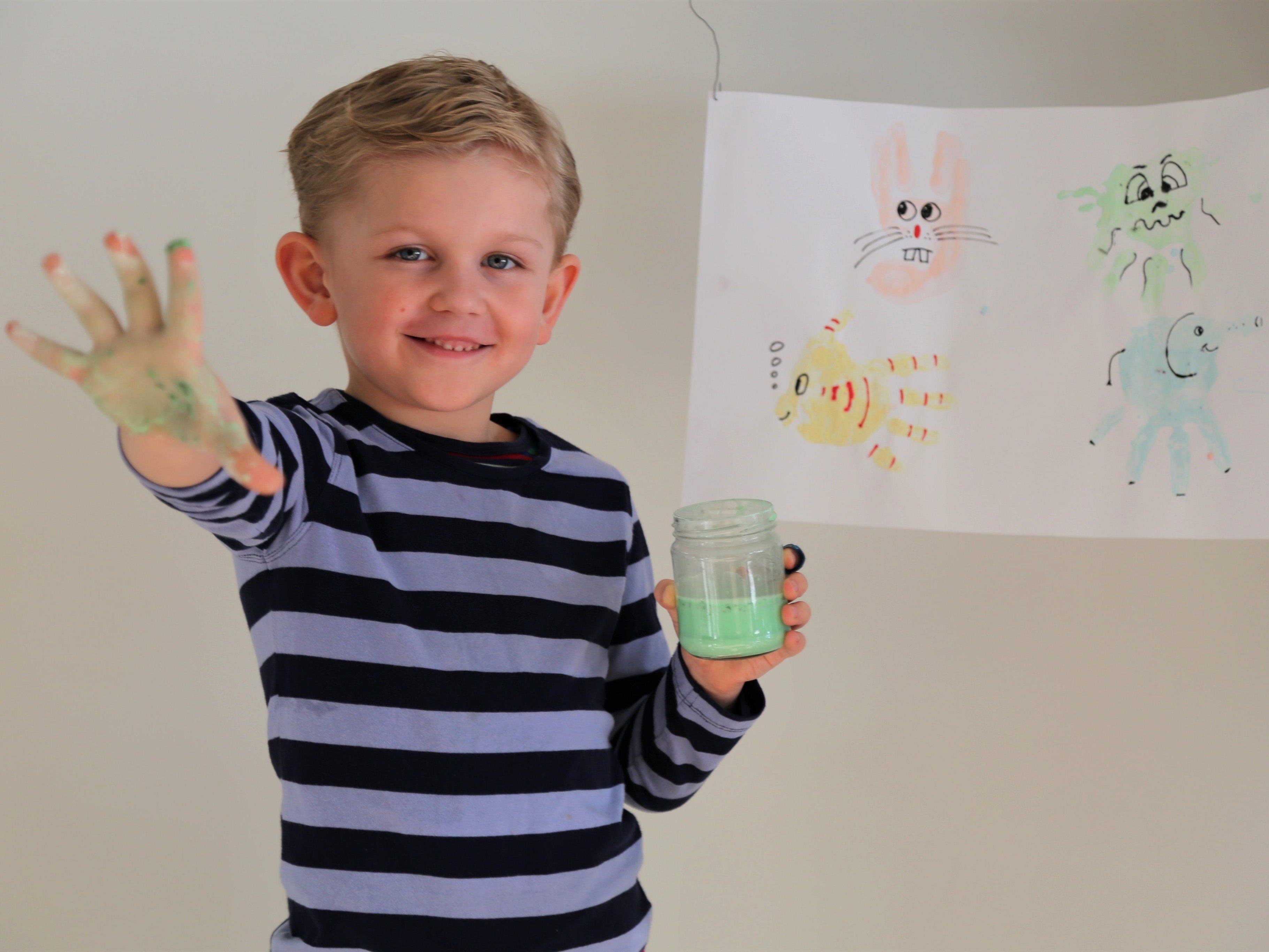 Jason Durell hatte einige Ideen zu den Fingerfarben direkt umgesetzt.