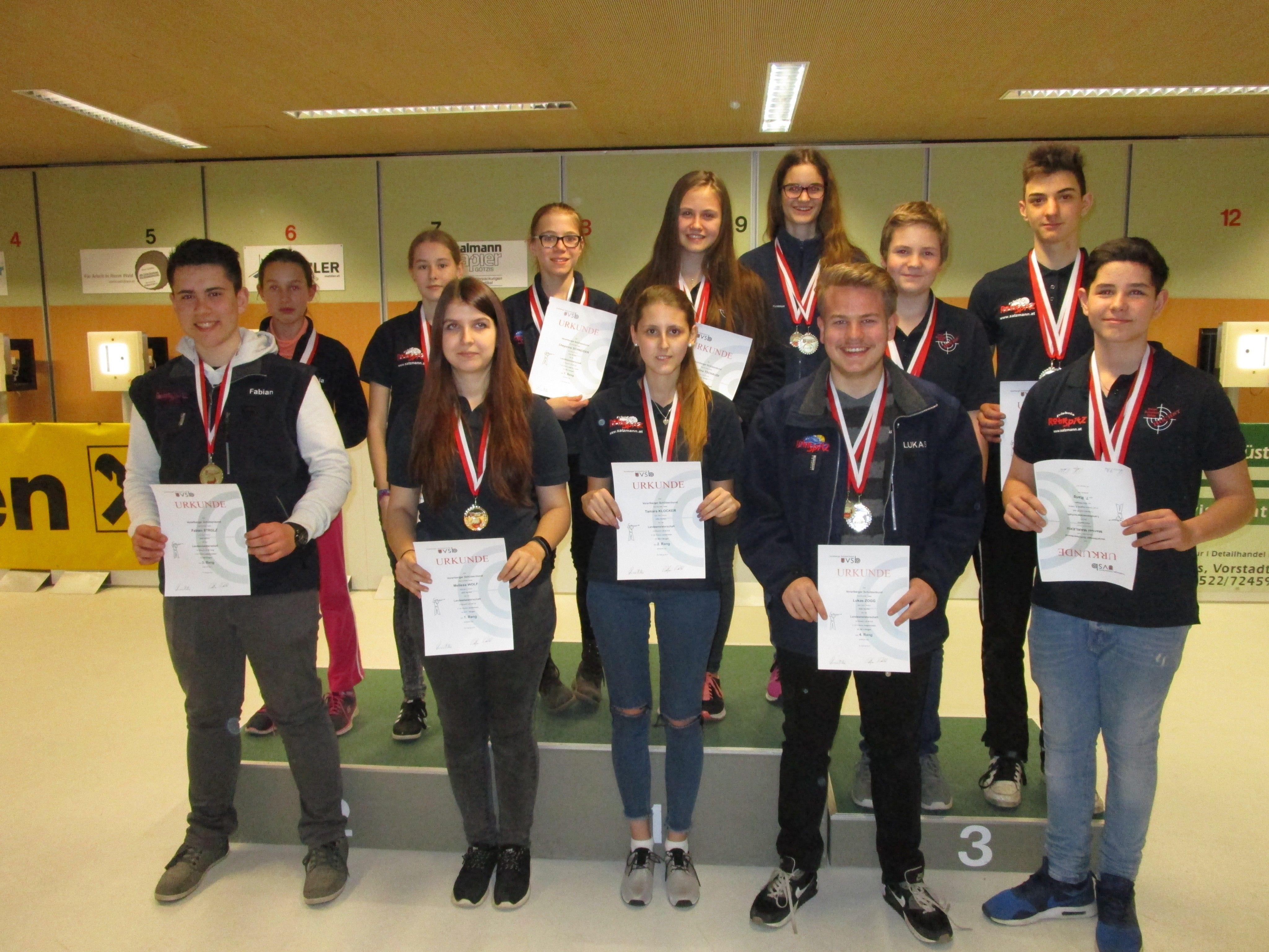 Landemeisterschaftteilnehmer Jugend