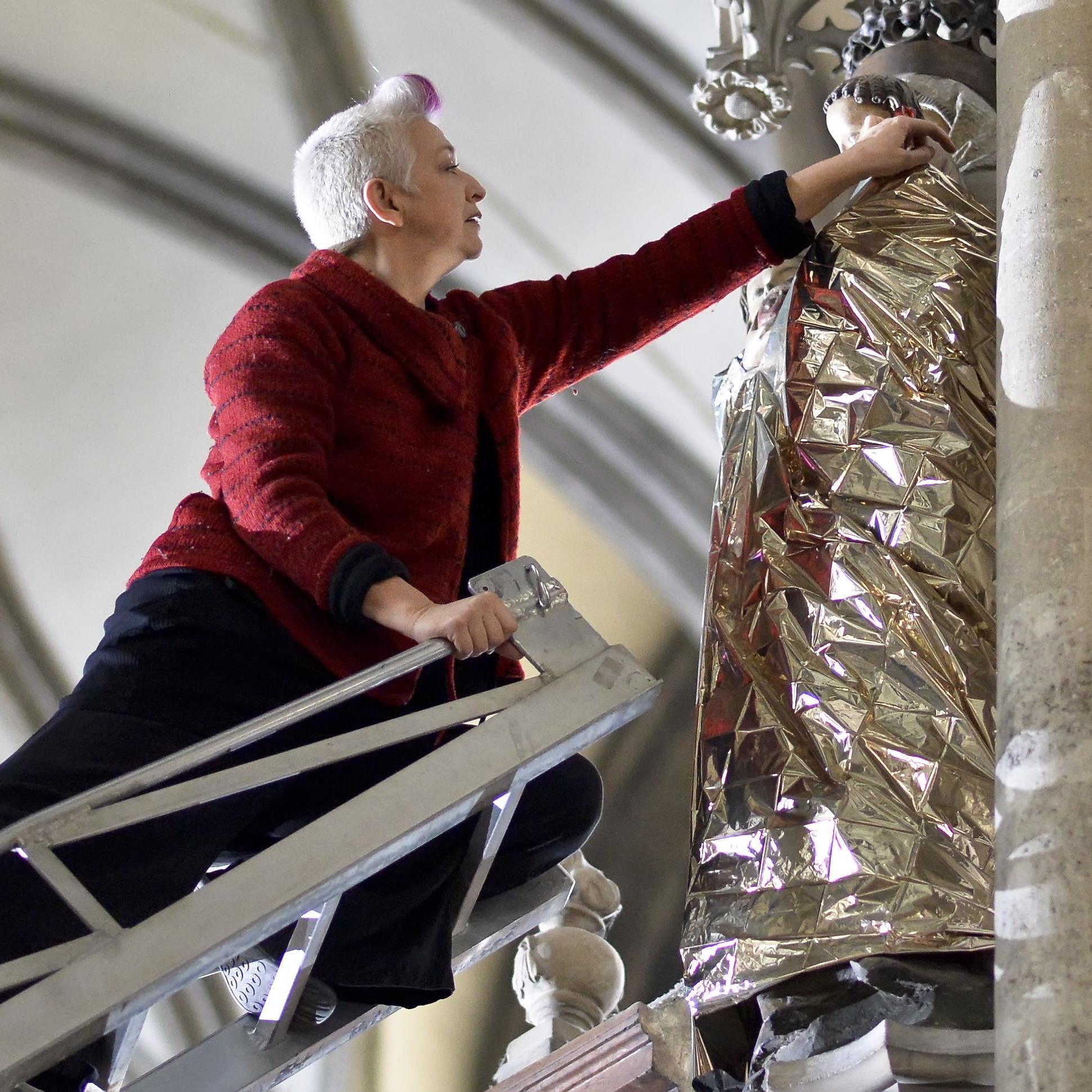 Victoria Coeln bei der Arbeit im Stephansdom