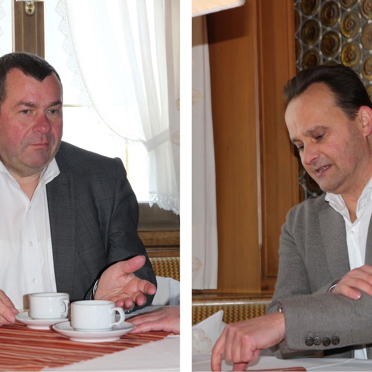 Geschäftsführer Erich Mayer (Wohnbauselbsthilfe). Geschäftsführer Gerhard Vonbank (Rhomberg Bau). Foto:s Rhomberg Bau