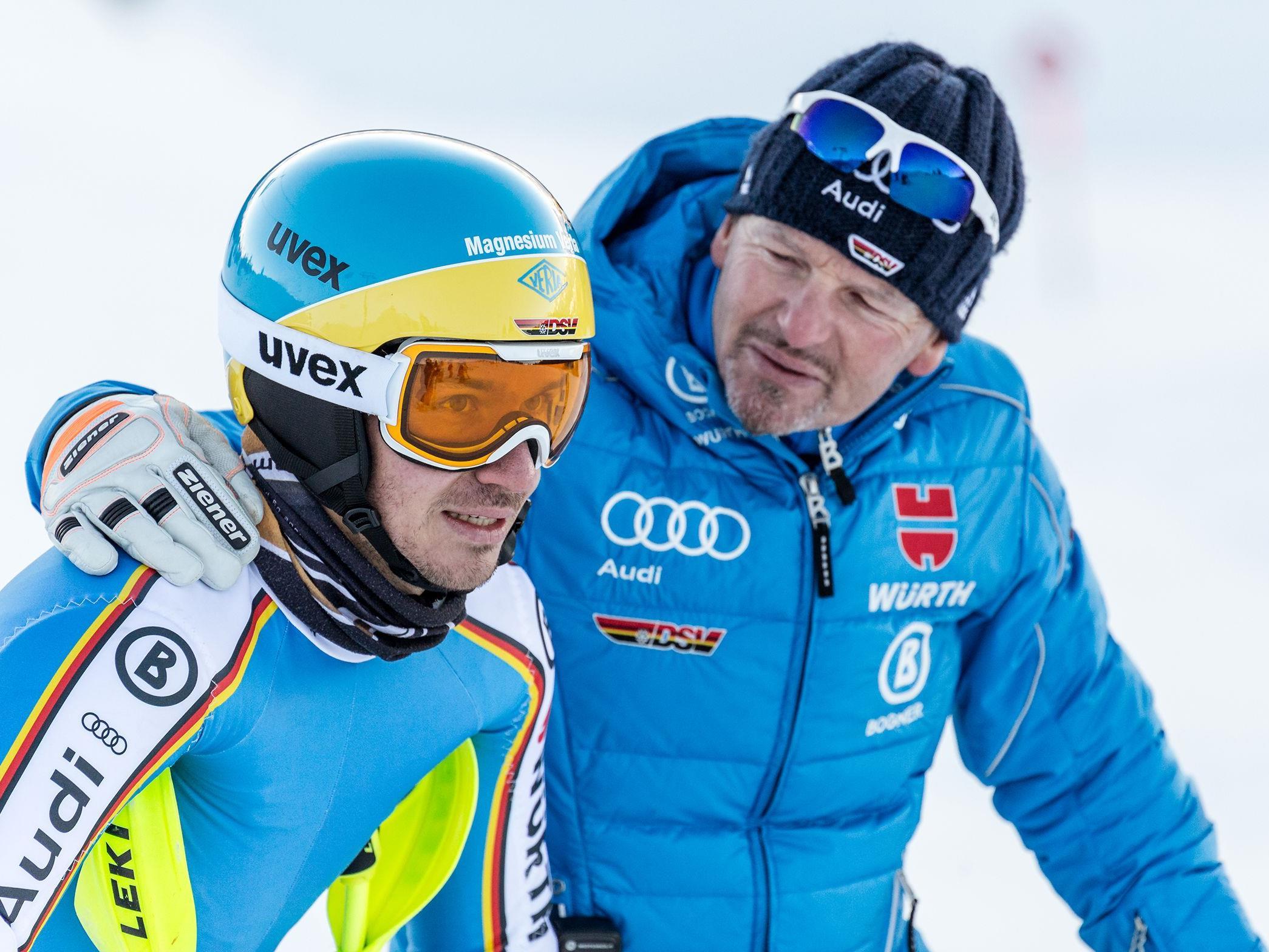 Felix Neureuther und das deutsche Technikteam absolvierten vor der WM in St. Moritz ihre letzten Trainingsläufe in der Silvretta Montafon.