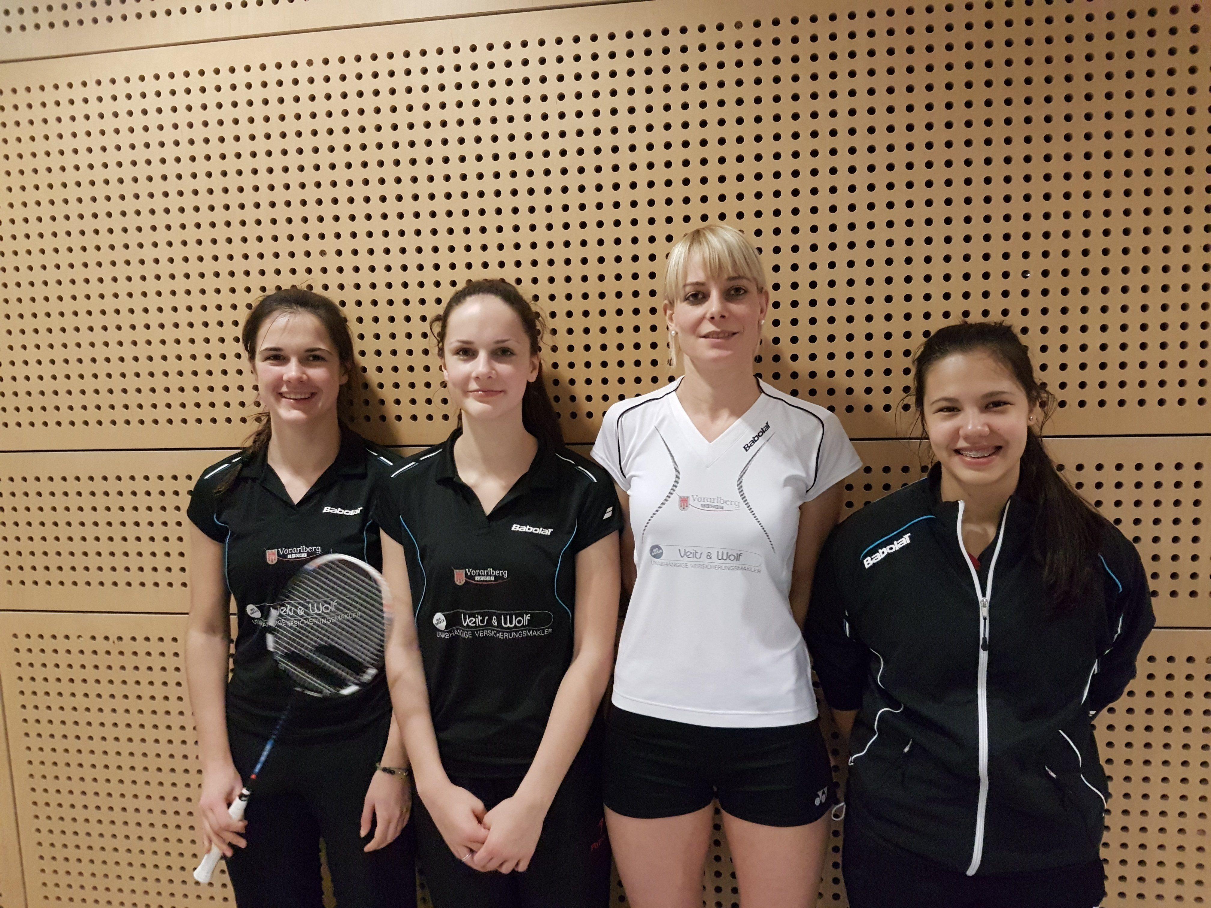 Die Feldkircherinnen Sabrina Herbert, Natalie Herbst, Leonie Tanriöver und Serena Au Yeong