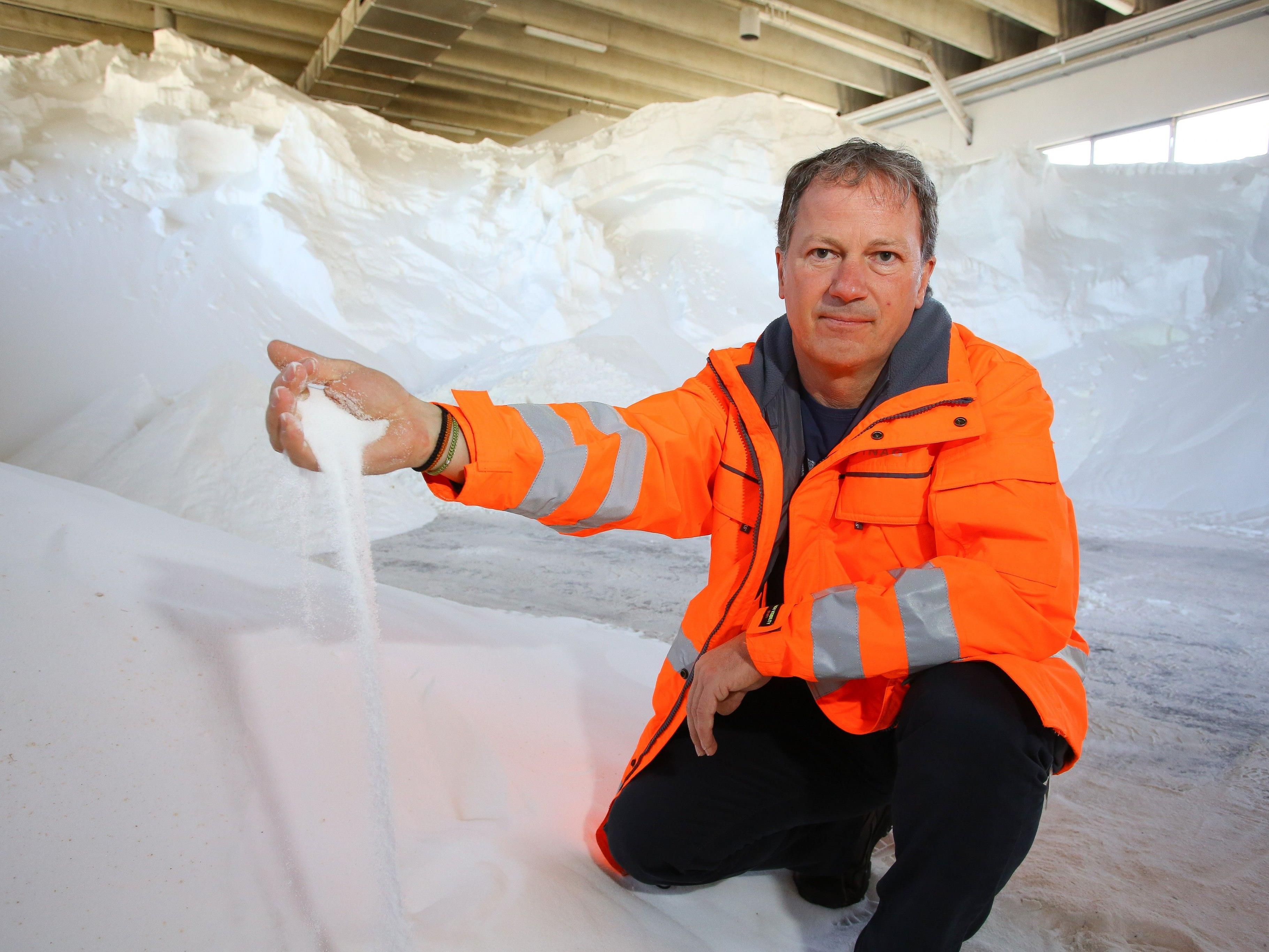 Jedes Jahr werden mehrere tausend Tonnen Salz gestreut.
