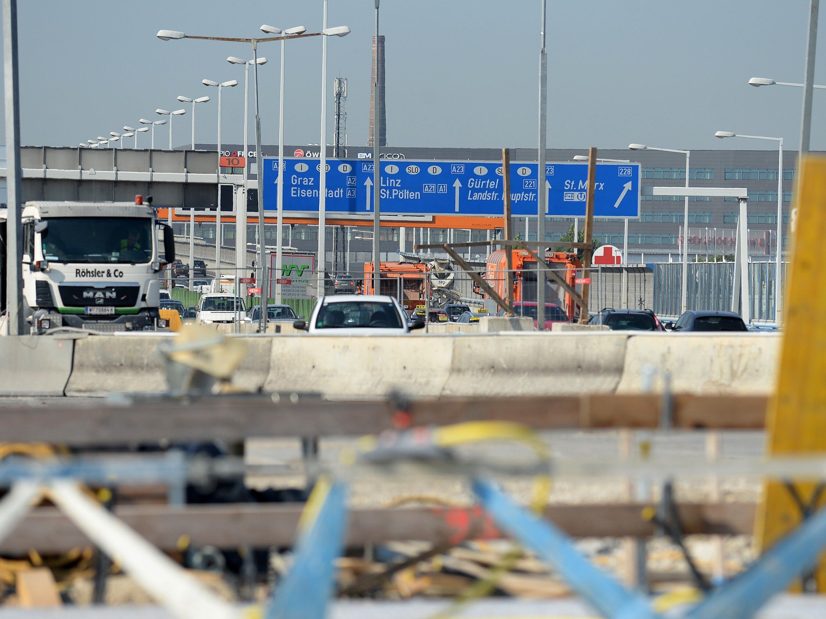 Bis 2017 soll die Prater Brücke auf der A23 komplett saniert sein.