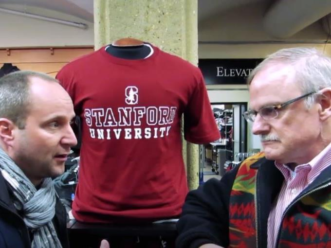 Matthias Strolz mit Lee Burton in Stanford.