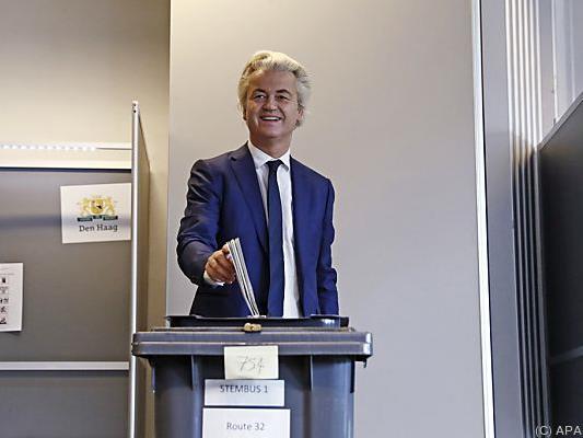 Rechtspopulist Geert Wilders an der Urne