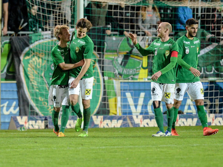 Der Sieg gegen Liefering beendete eine sechs-Spiel-Durststrecke der Lustenauer.
