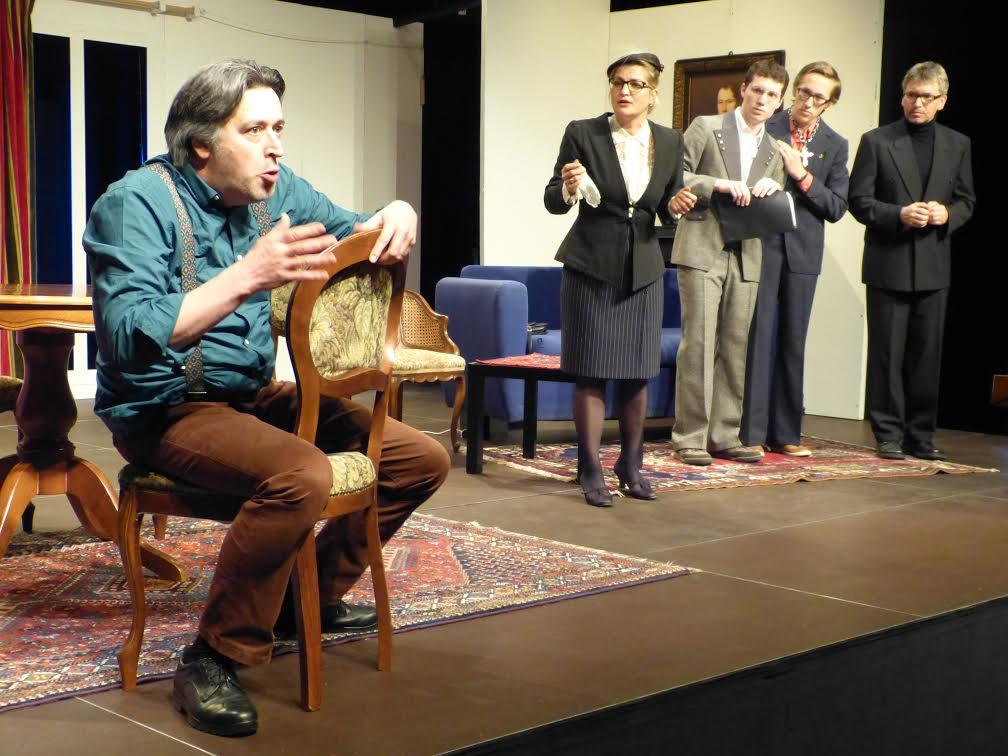 """Die Wiederaufnahme des Dürrenmatt-Stücks """"Die Physiker"""" ist der erste Streich der Theaterwerkstatt Feldkirch im Frühjahr 2017."""