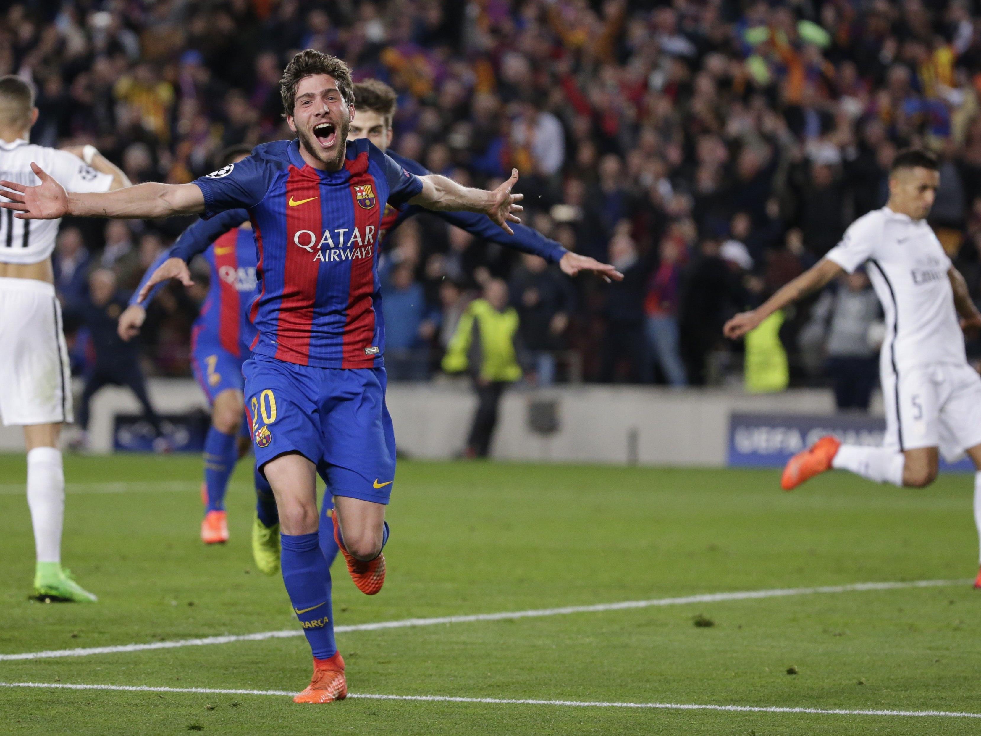 Sergi Roberto schoss in der fünften Minute das entscheidene 6:1 für den FC Barcelona.