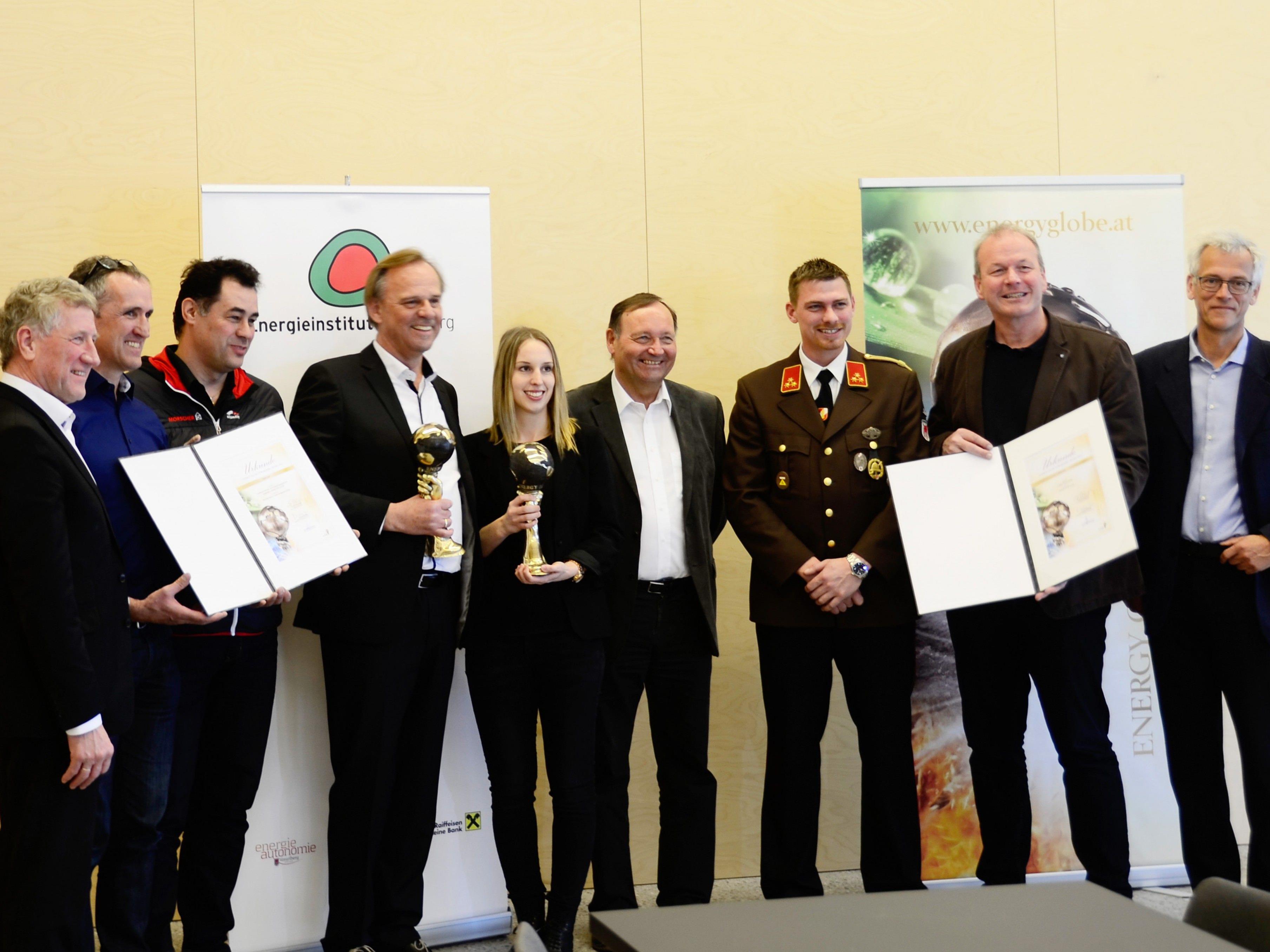 Die Energy Globes 2017 wurden der Gemeinde Götzis und Morscher Bau- und Projektmanagement überreicht.