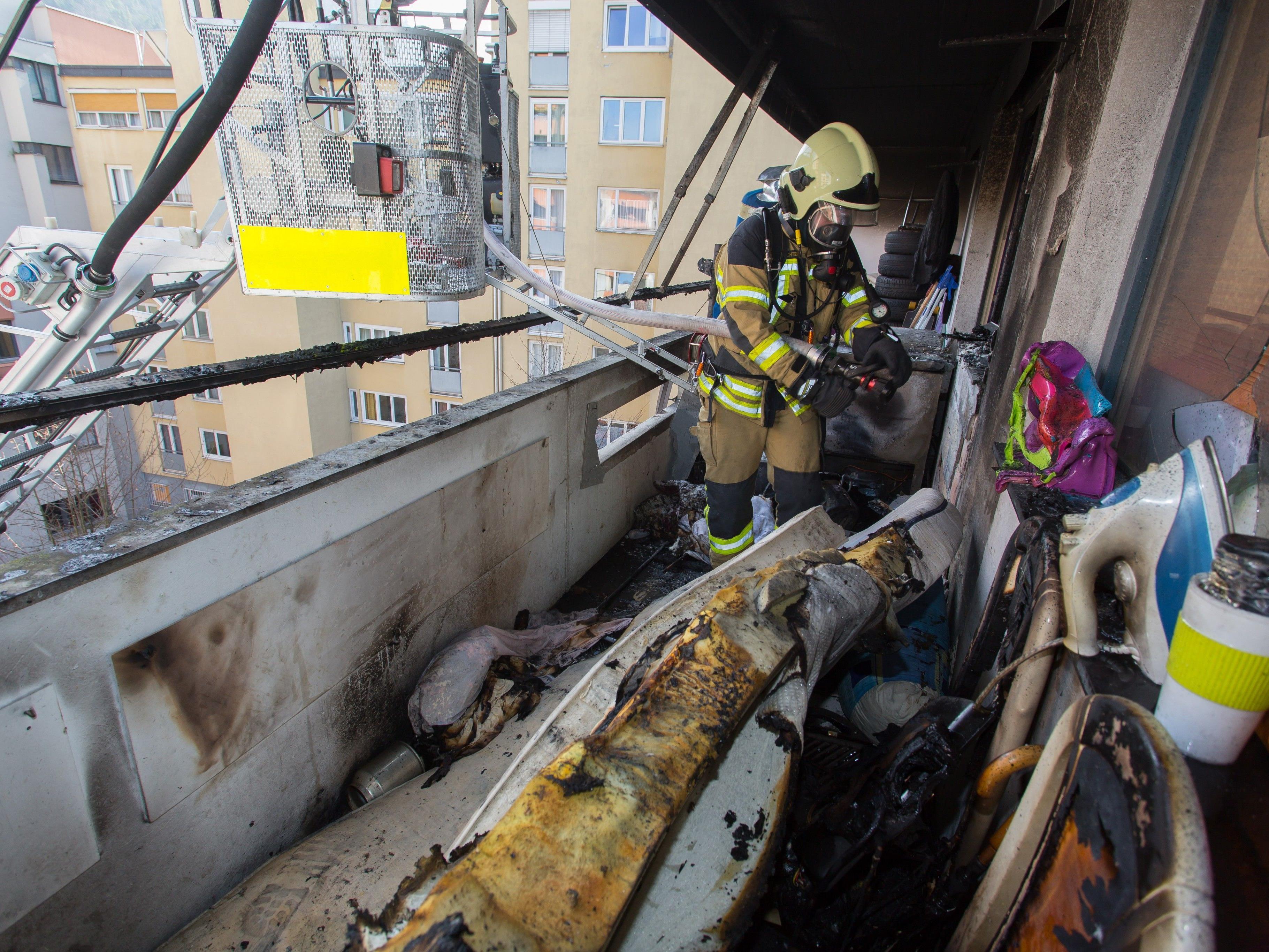 In Feldkirch geriet am Mittwoch einen Wohnung in Brand.
