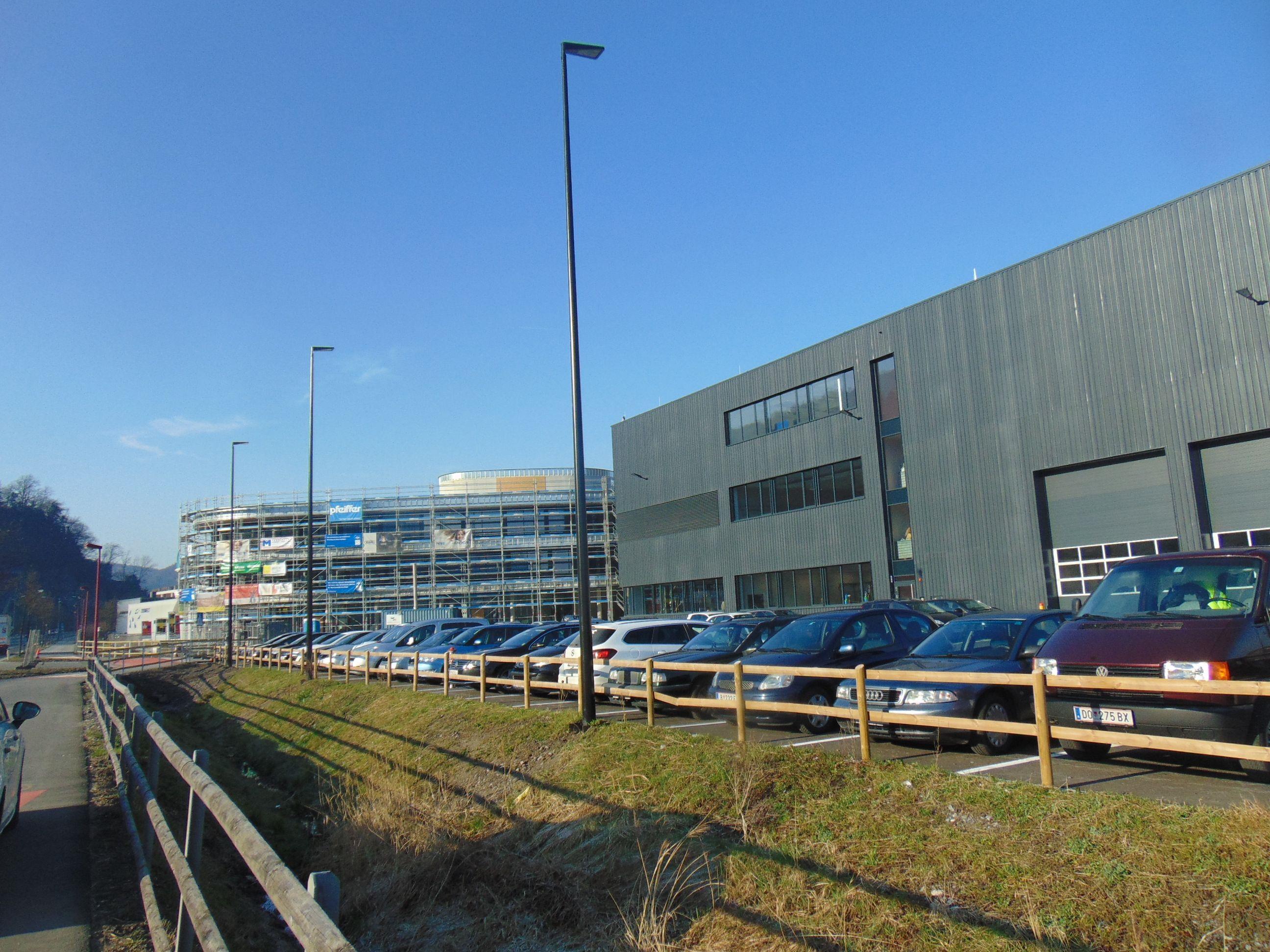 Der Fortschritt beim Neubau von Loacker in Götzis ist gut sichtbar