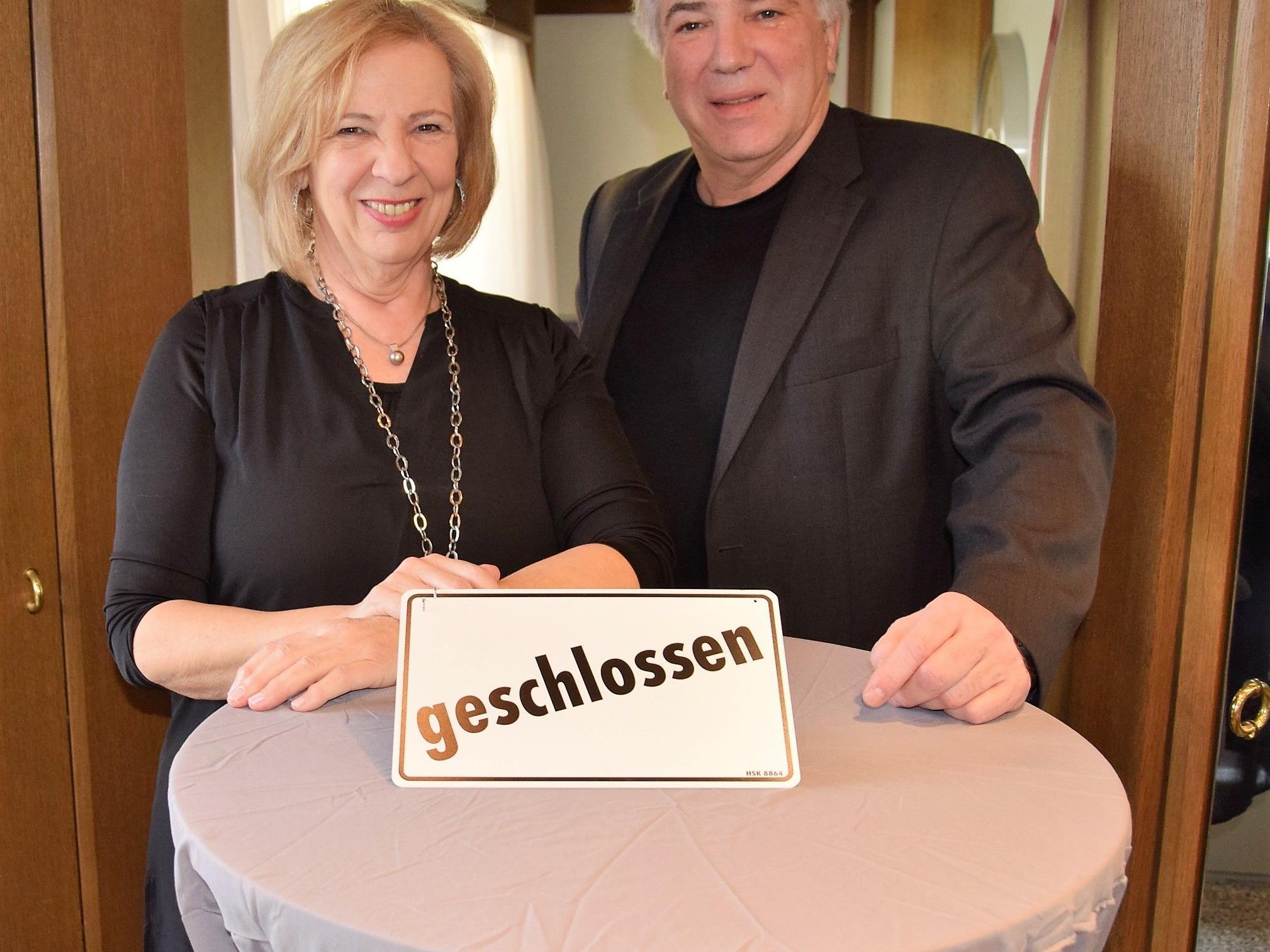 Susanne und Ernst Bürge werden ab 1. April die Pension genießen....