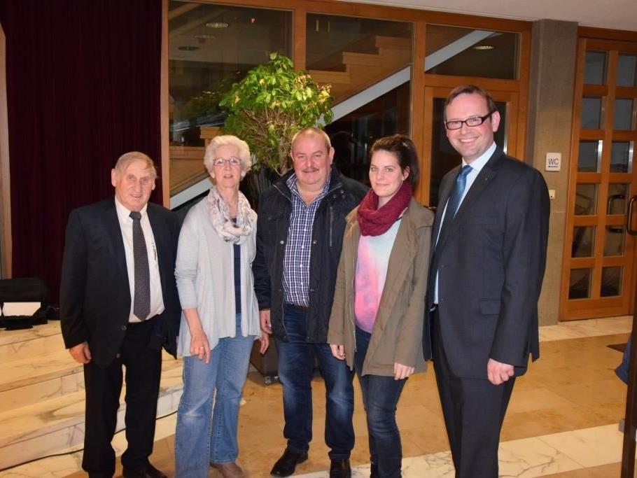 Josef Blaser, Ruth Brunzel, Helmut Fitz, Natalie Fitz, Daniel Steinhofer (v.l.)