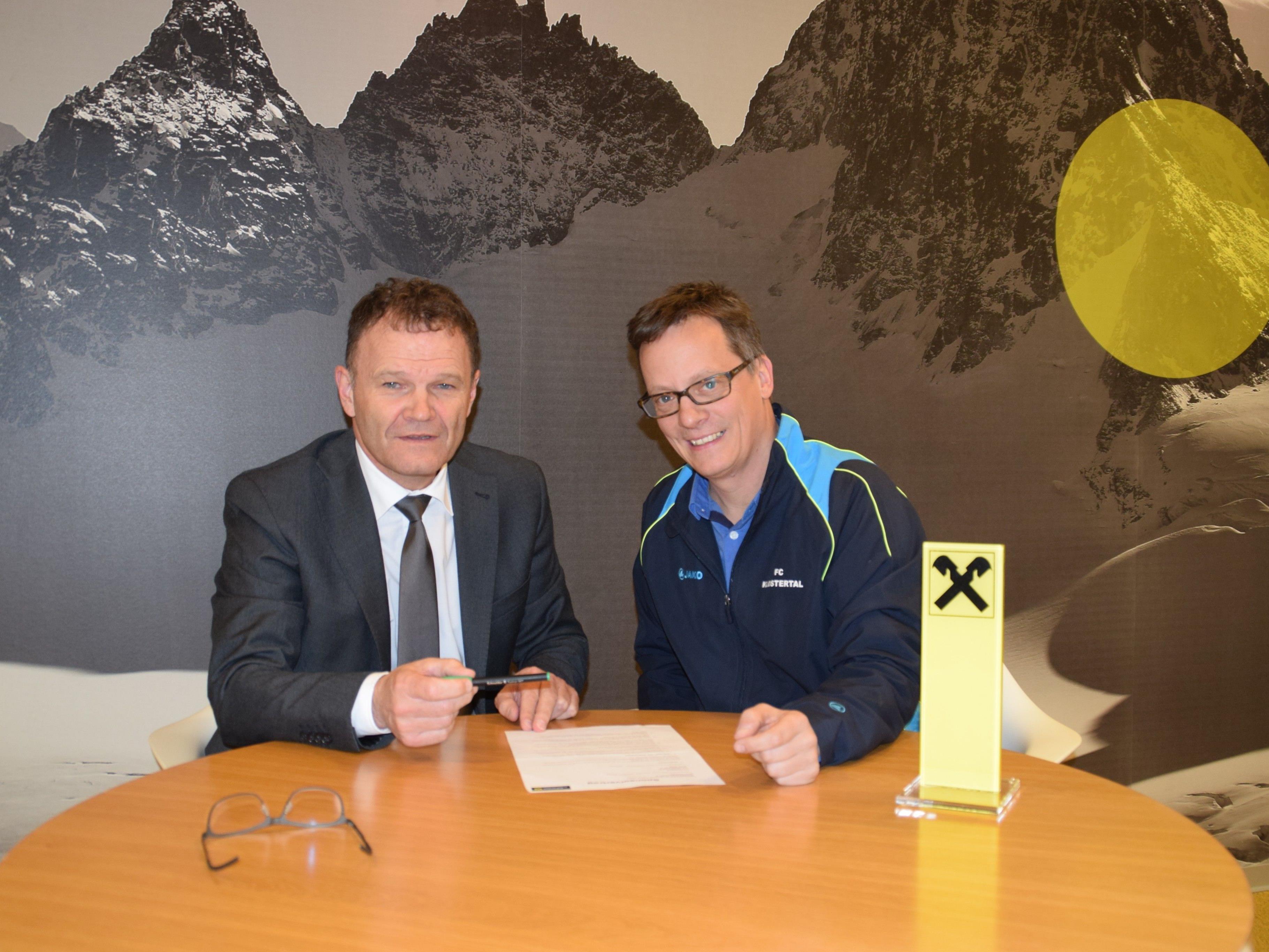 Partnerschaft FC Klostertal - Raiffeisenbank
