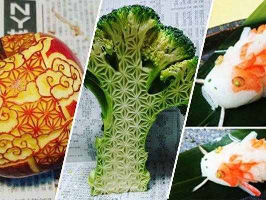 Der Künstler Gaku verwandelt Gemüse in Kunst.