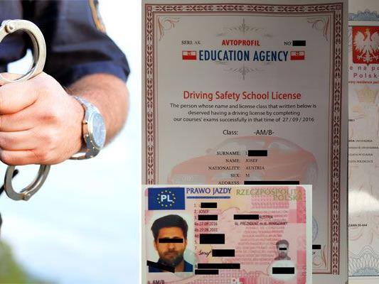 Die Abnehmer von gefälschten Führerscheinen wurden ausgeforscht und angezeigt