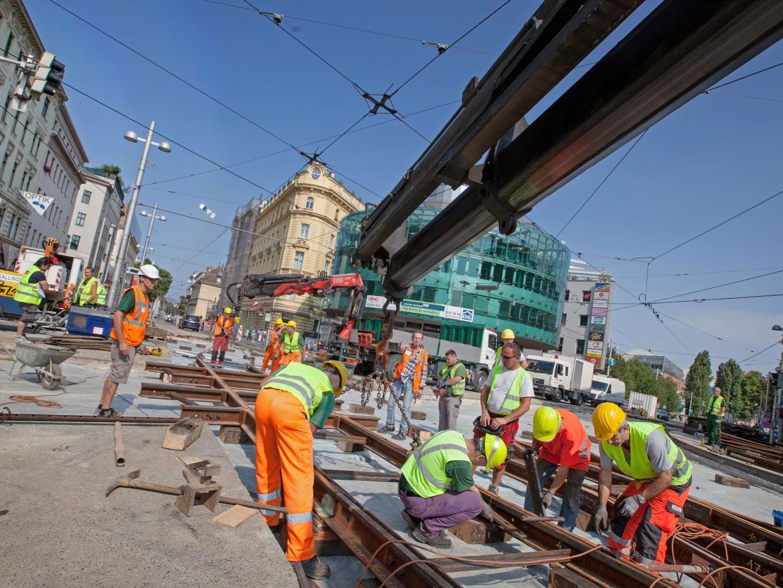 Auch heuer erneuern die Wiener Linien die Gleisanlagen ihrer Straßenbahninfrastruktur