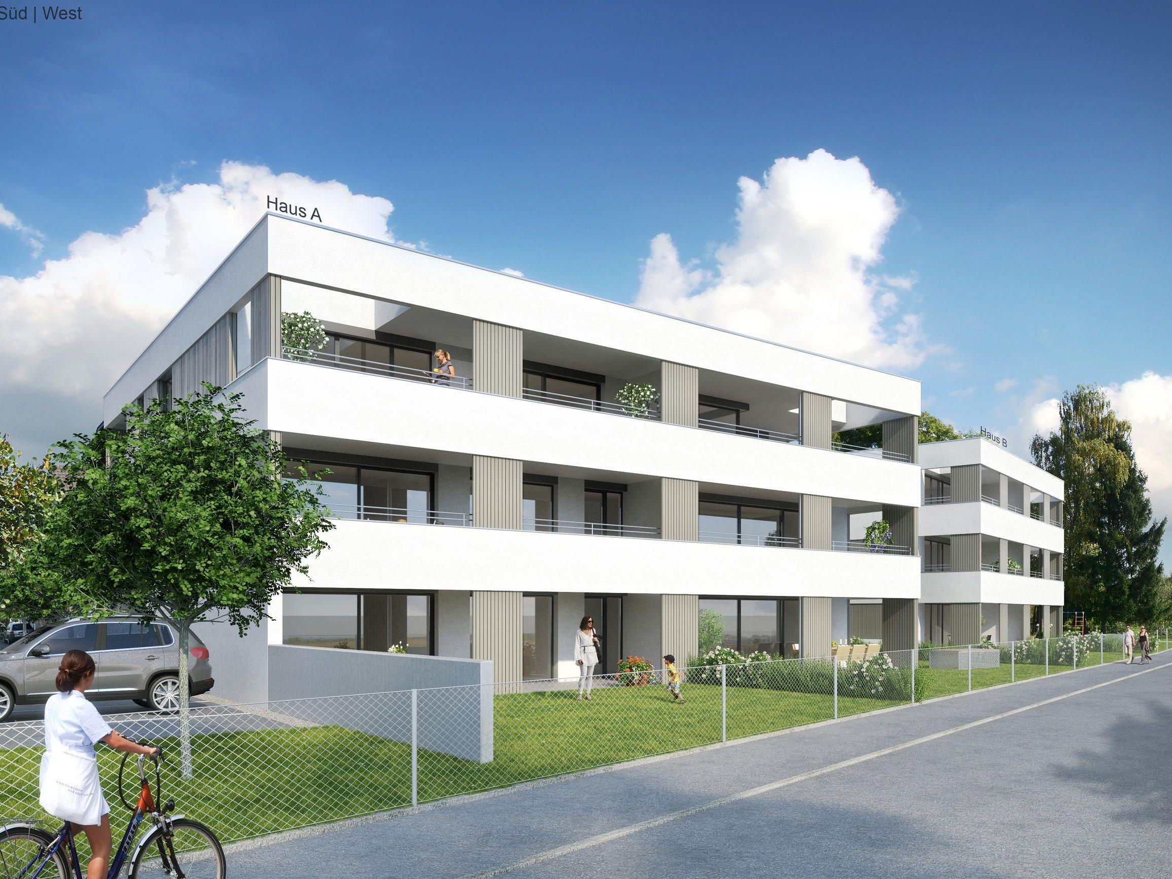 Im Frühjahr 2018 soll die Wohnanlage fertiggestellt sein. (Grafik: Haberl-Bau)
