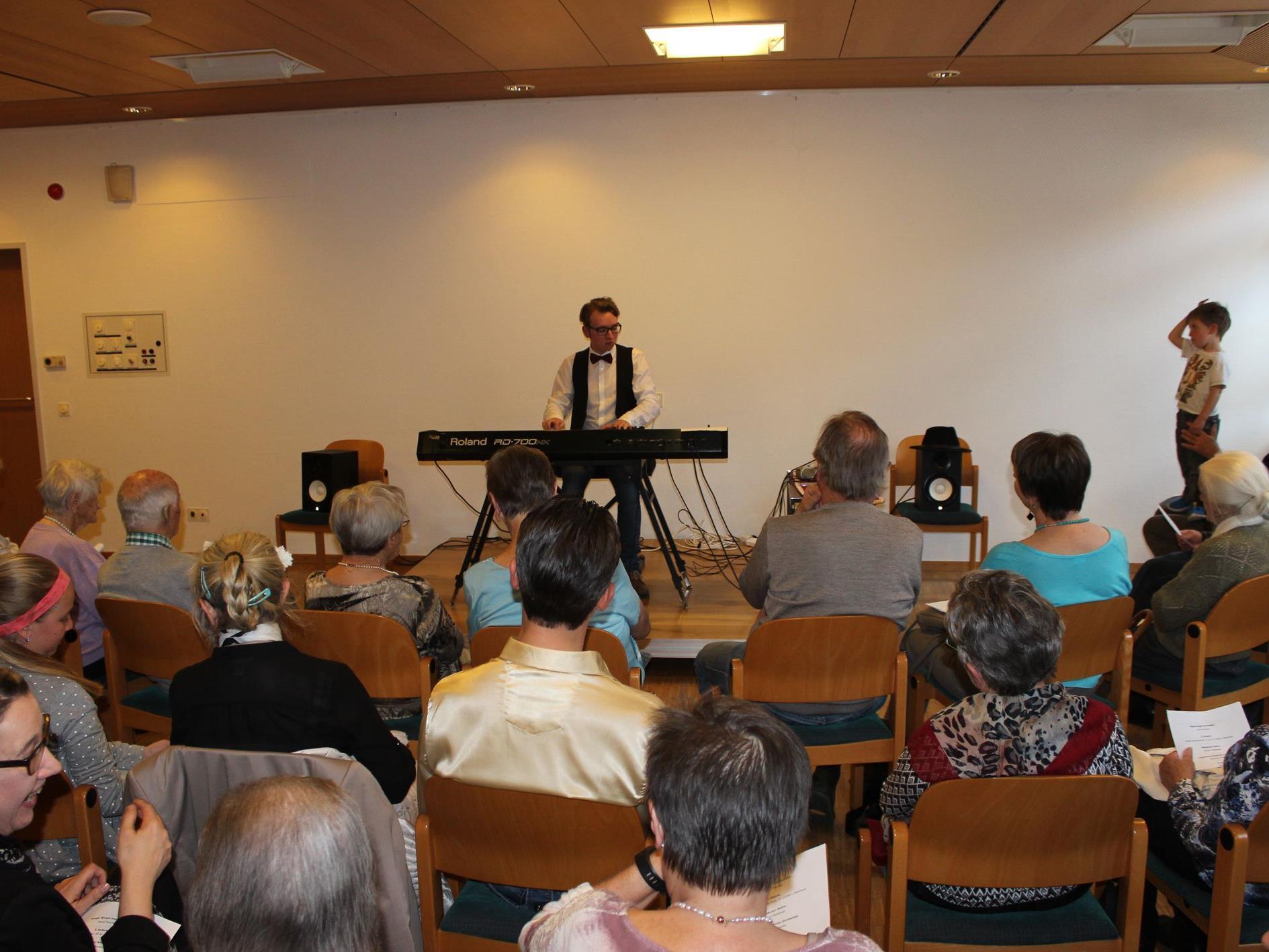 Klavierkonzert mit David Fasching im Sozialzentrum Bürs