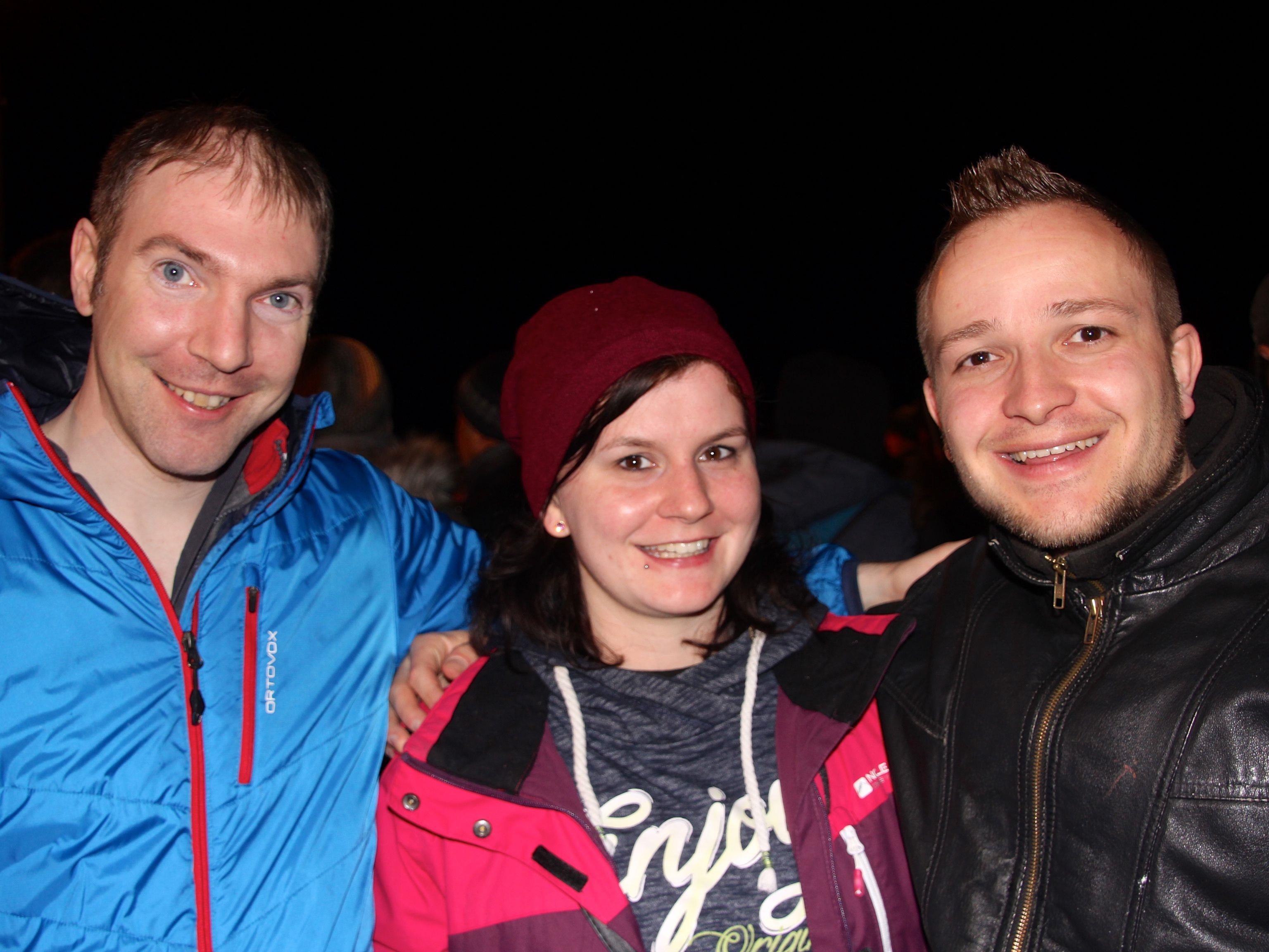 Gregor Meier, Stefanie Böhler und Paul Pöcheim hatten viel Spaß beim Nofler Funken 2017.
