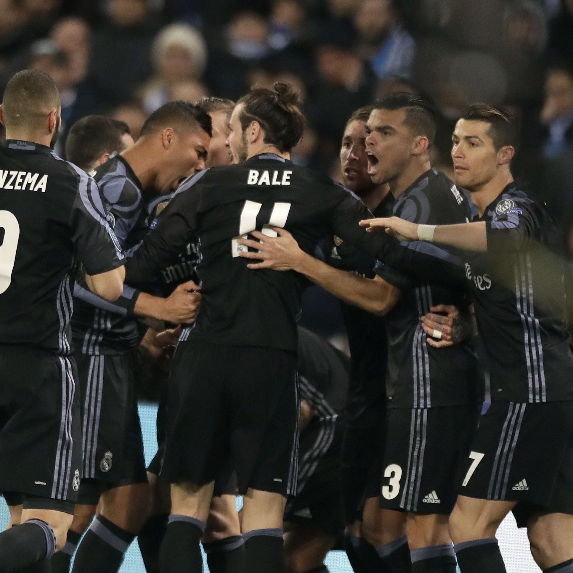 Real Madrid jubelte über den Einzug ins Viertelfinale.