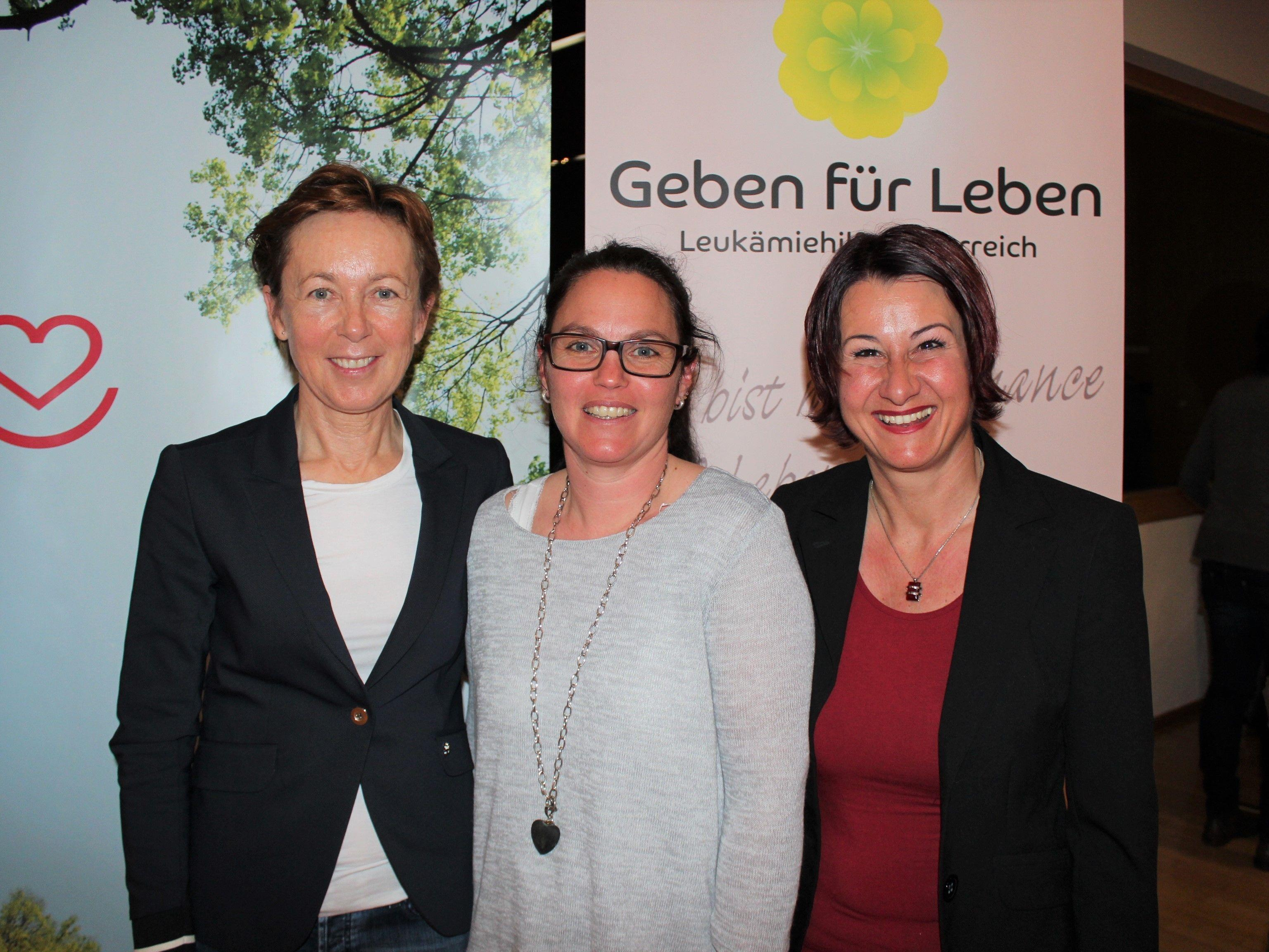 Marianne Huber, Obfrau Claudia Gunz und Susanne Marosch.