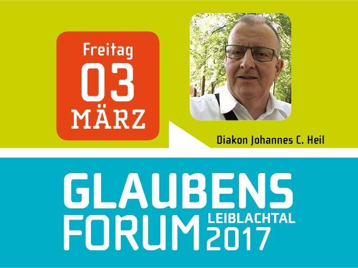 """Diakon Johannes C. Heil (Krankenhausseelsorger) lädt am Freitag, 3. März, um 19.30 Uhr als Referent zum Glaubensforum """"Glauben heißt Leben"""" ins Lochauer Pfarrheim."""
