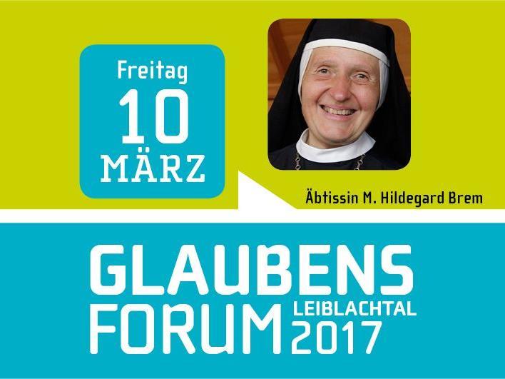 """Äbtissin Dr. Mag. Hildegard Brem ist am Freitag, 10. März, um 19.30 Uhr die Referentin beim Glaubensforum """"Glauben heißt Leben"""" im Lochauer Pfarrheim."""