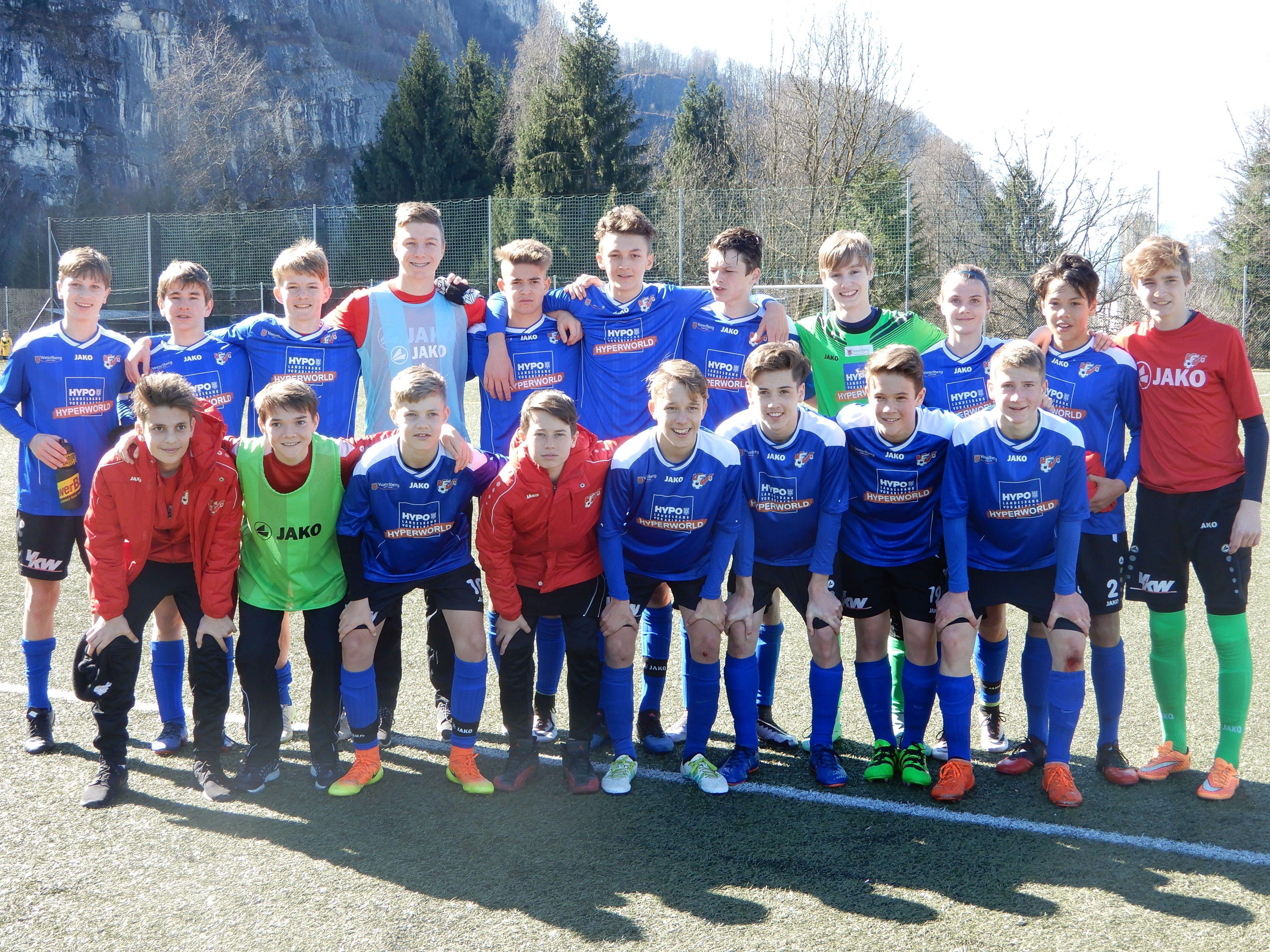 Besser hätte die Frühjahrssaison für die AKA U15 nicht beginnen können - das erste Spiel gegen den WAC ging 3:0 an die Vorarlberger.
