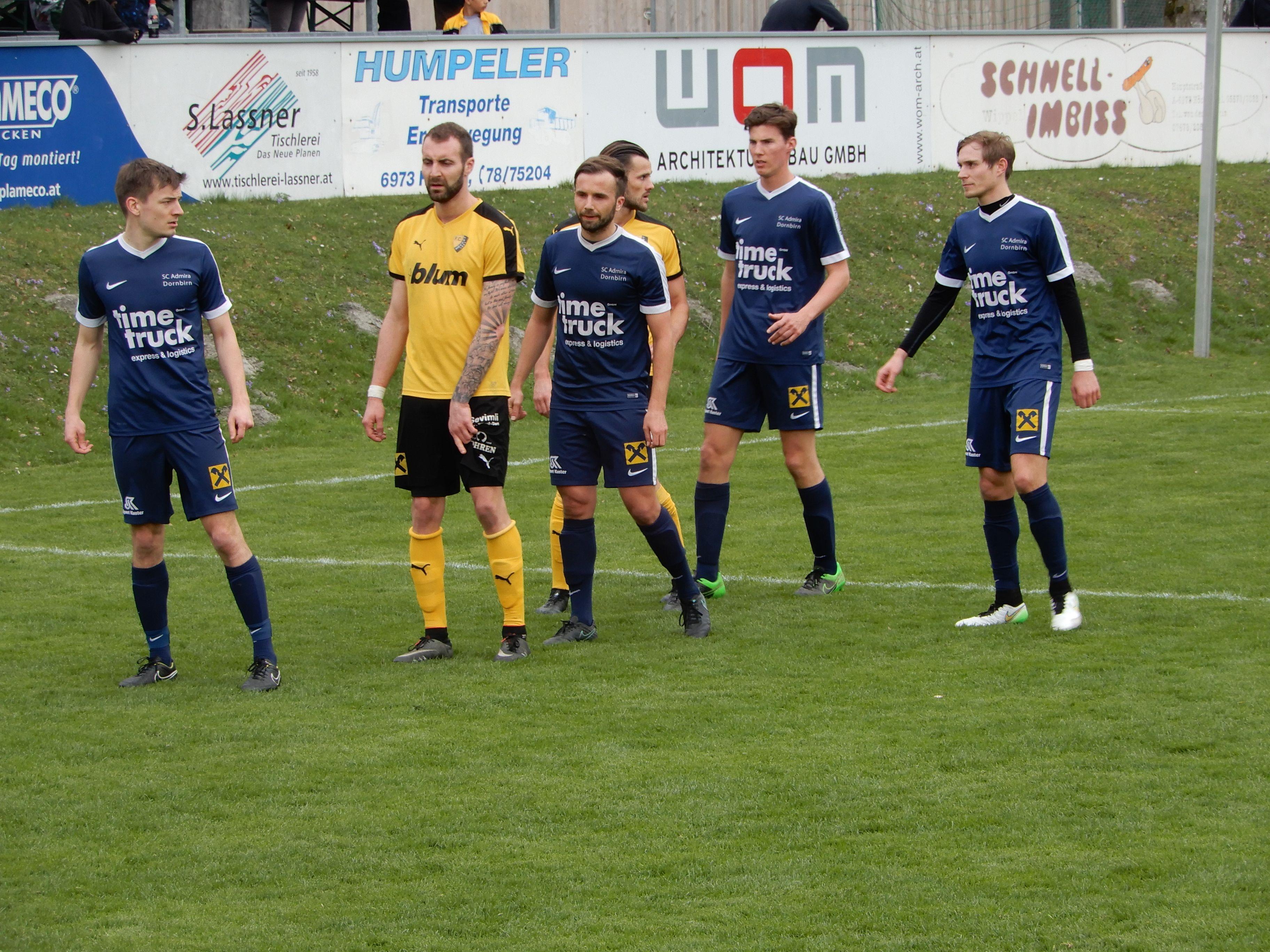 Mit dem Sieg gegen Höchst sicherte sich die Admira Dornbirn den vierten Tabellenrang in der Vorarlbergliga.