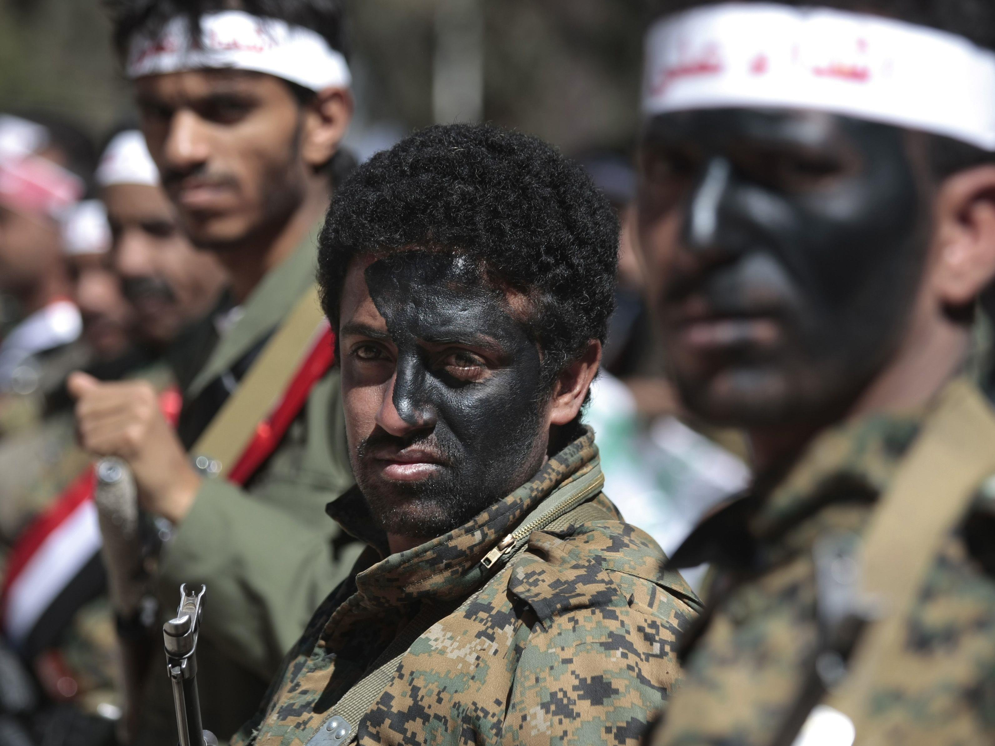 Huthi-Krieger in Sanaa.