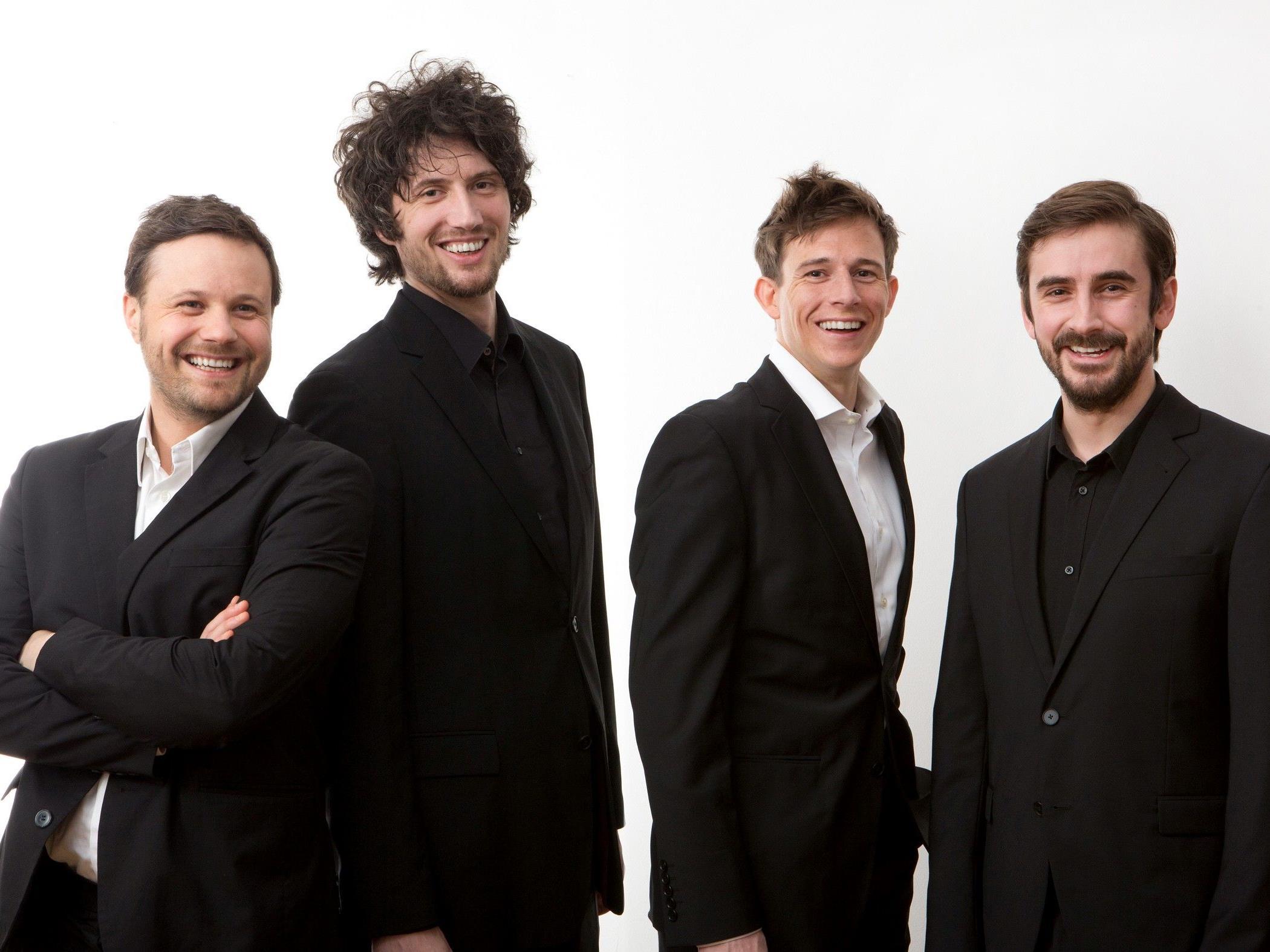 Mit dem Quartett Mundschenk gastieren am kommenden Samstag vier Gesangsperlen im Festsaal des BGD Dornbirn.