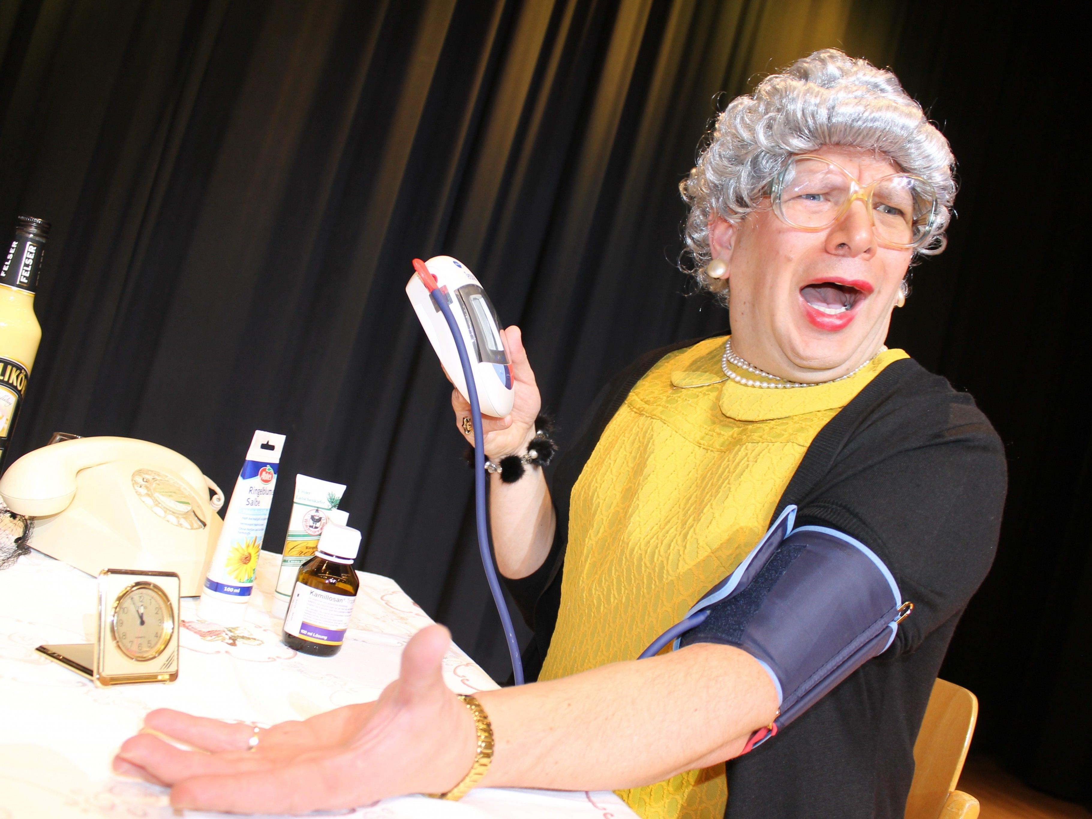 Bei ihrer letzten Vorstellung im Frühling 2017 wird Oma Lilli am 1. April um 20.00 Uhr im Dalaaser Kristbergsaal für einen humorvollen Abend sorgen.