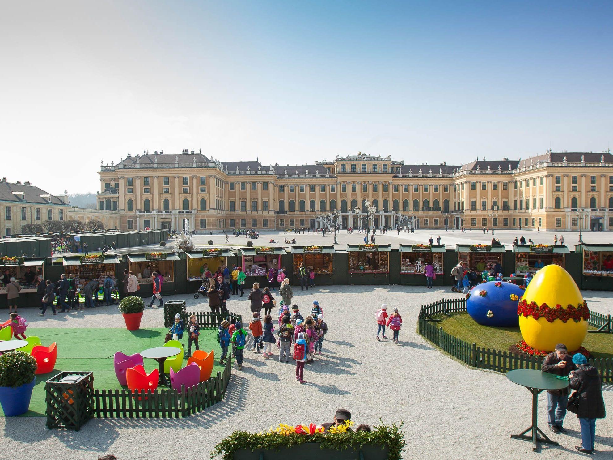 Der Ostermarkt Schloss Schönbrunn lockt auch heuer die Besucher an