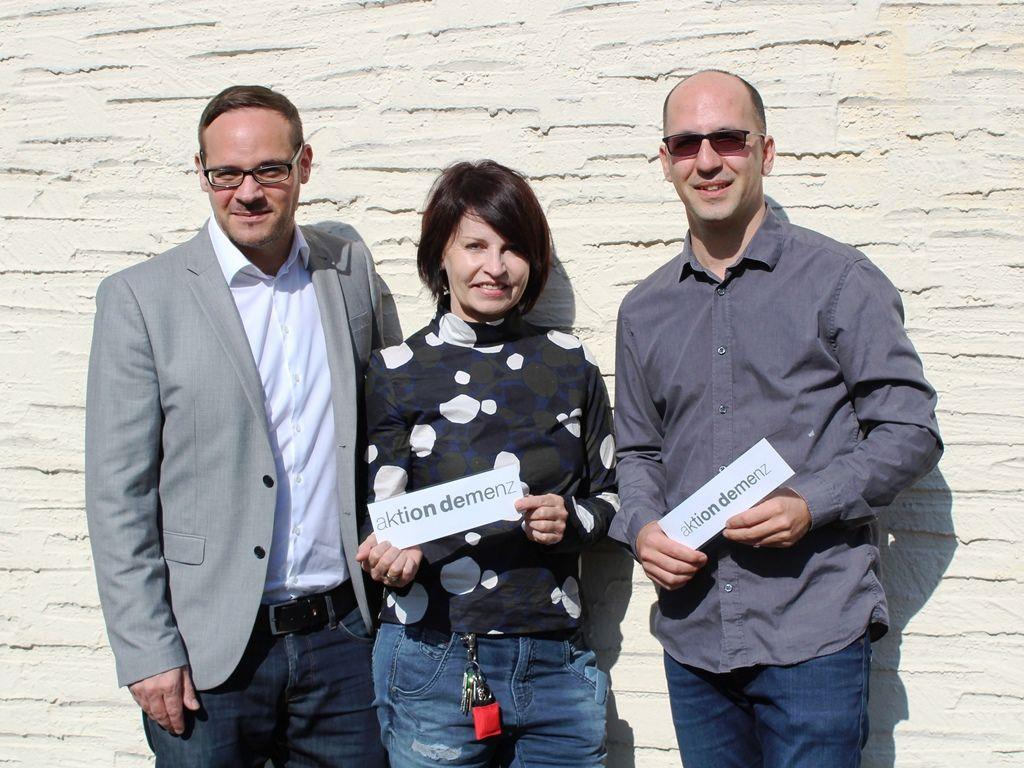 Franco Luchetta, Mathilda Rehm-Bader, MSc und Thomas Winzek, MA