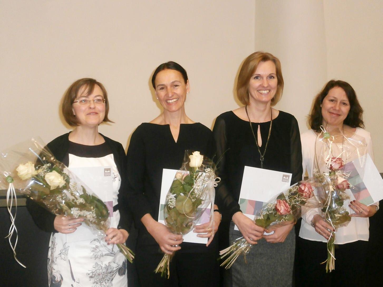 Barbara Jochum, Brigitte Wippler, Heike Stefani und Irene Koller schlossen ihrenLehrgang erfolgreich ab